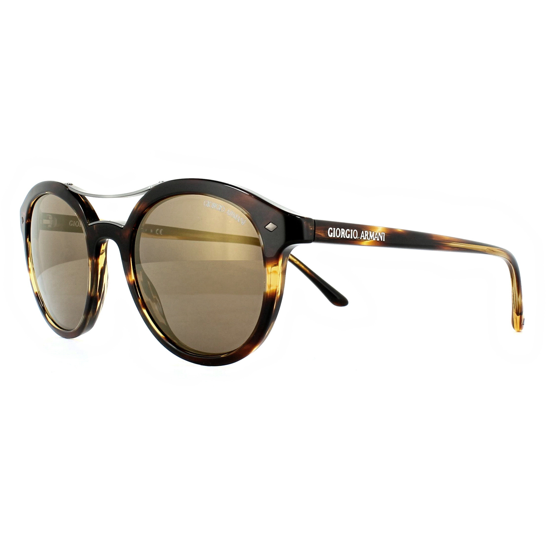 679682d6 Details about Giorgio Armani Sunglasses AR8007 559003 Brown Burned Light  Brown Gold Mirror