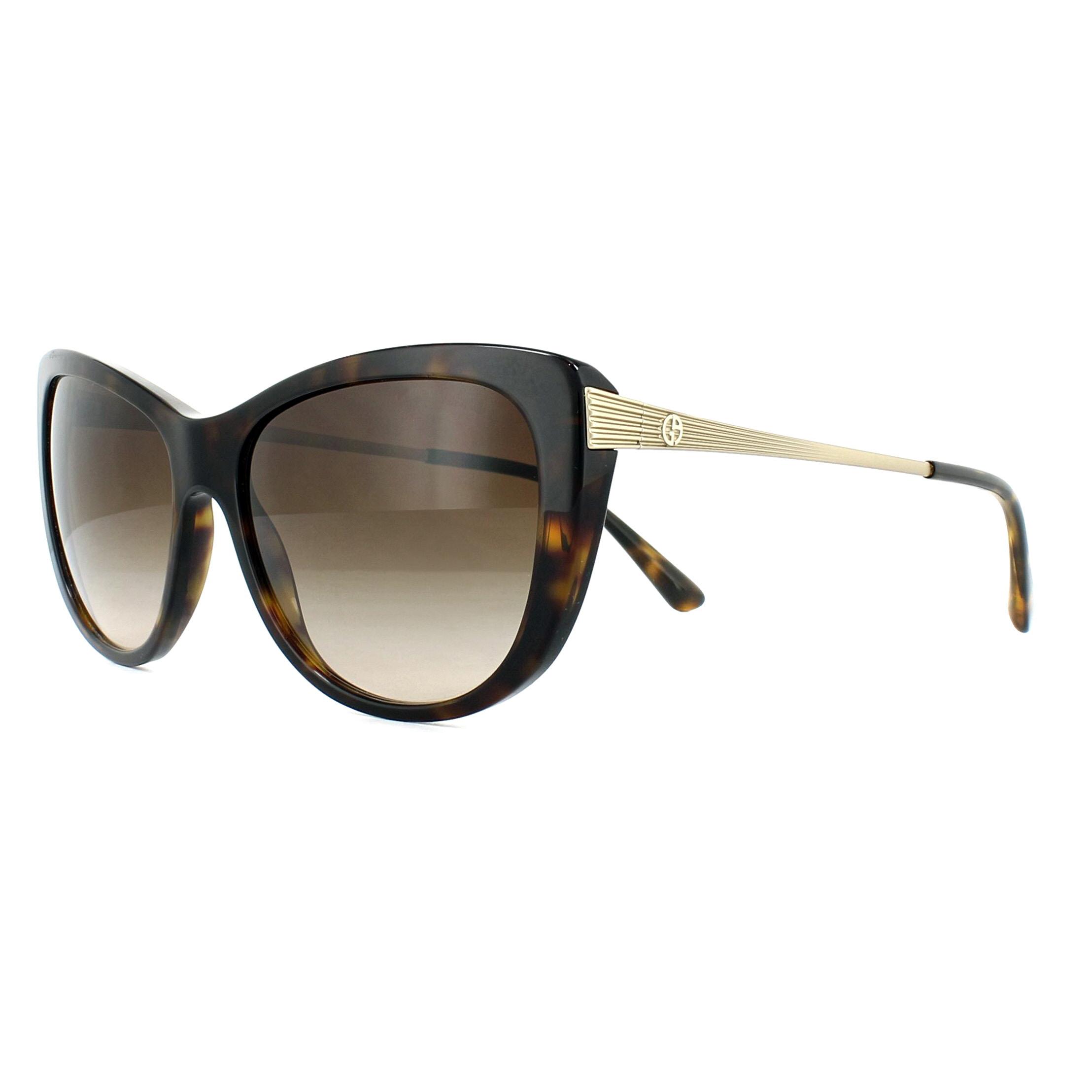 9a2cf2b03e9e Sentinel Giorgio Armani Sunglasses AR8078 502613 Dark Havana Brown Gradient