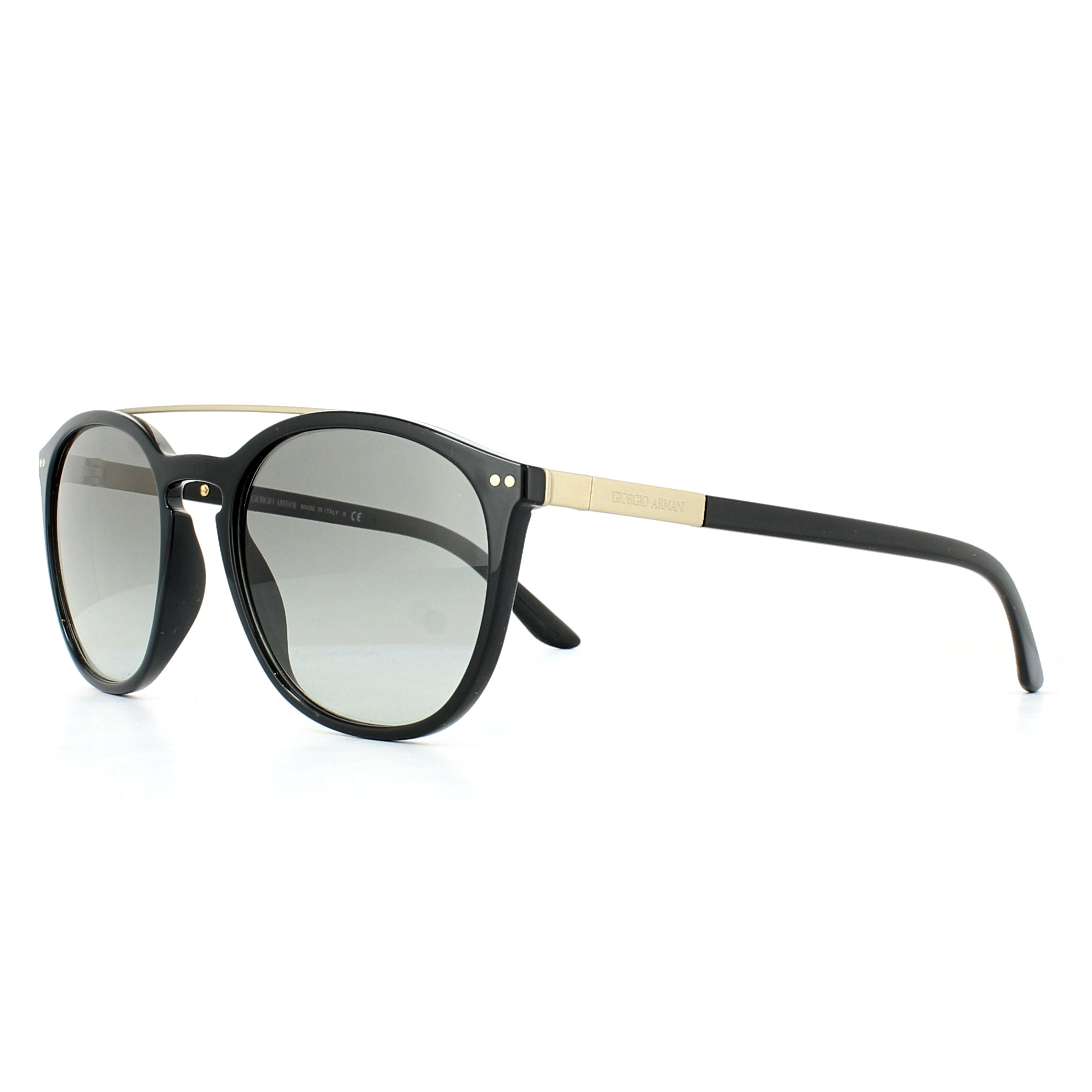 f3dc206116a8 Sentinel Giorgio Armani Sunglasses AR8088 501711 Black Grey Gradient