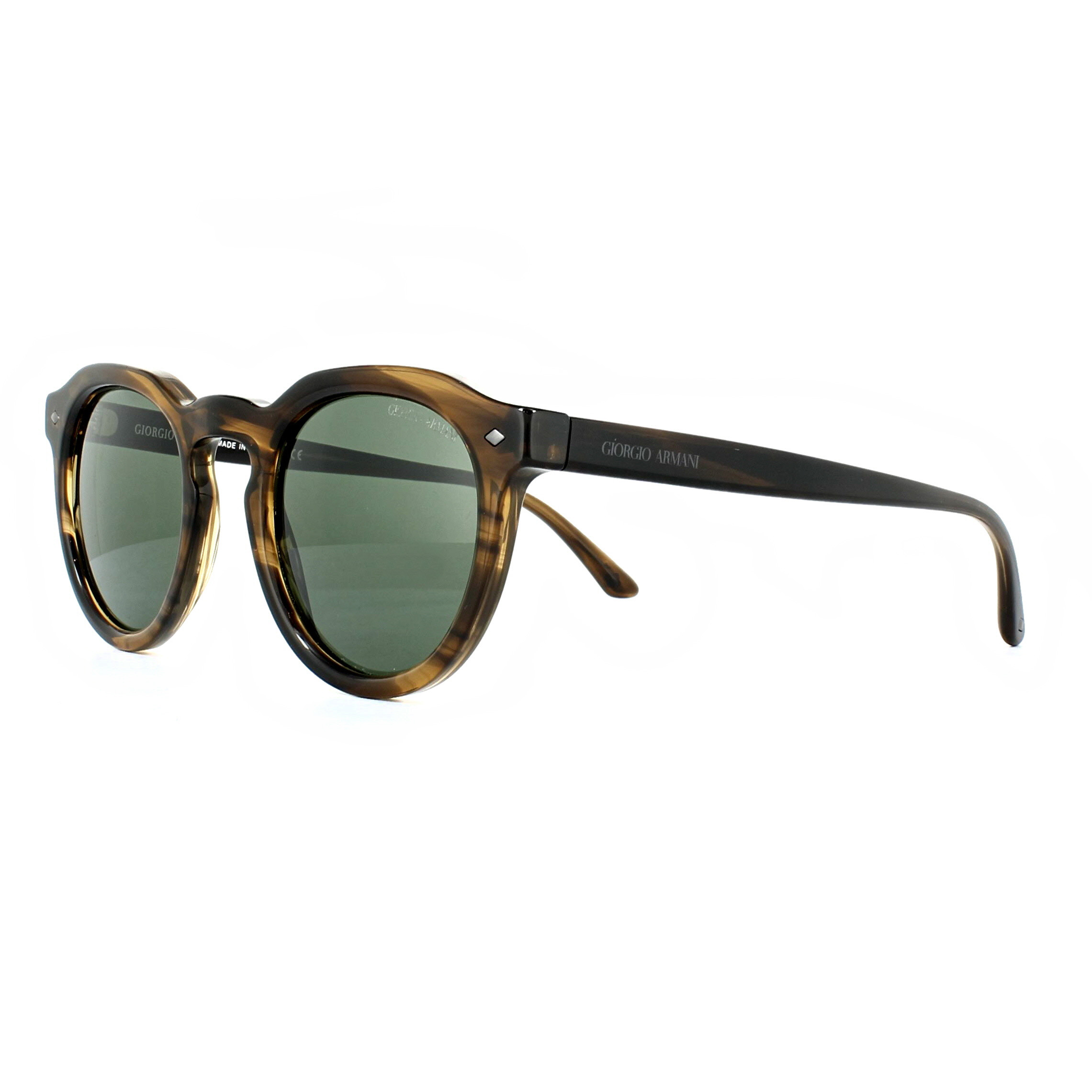 bd4bfb44 Details about Giorgio Armani Sunglasses AR8093 559431 Striped Brown Green