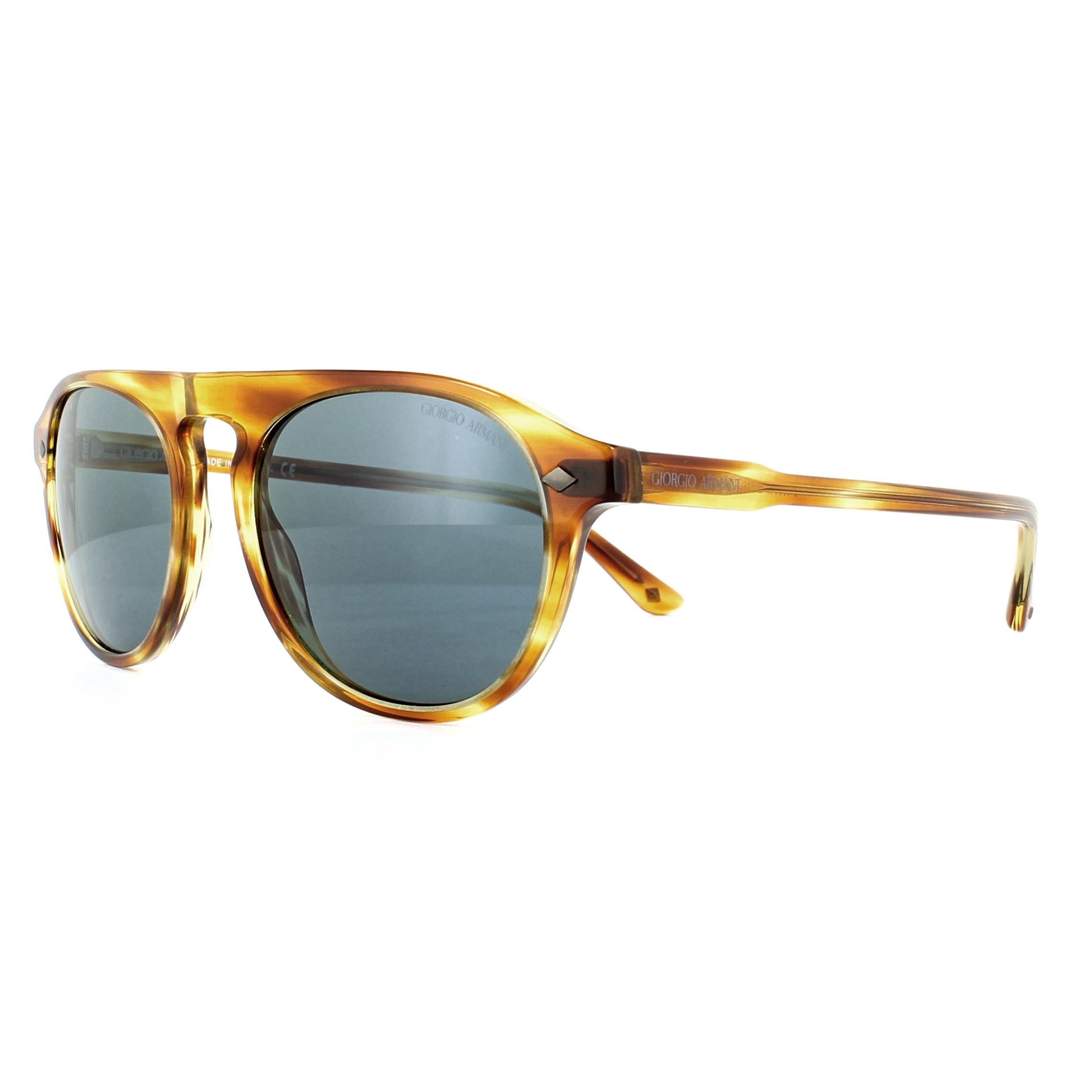 aeadf1c2bf61 Giorgio Armani Sunglasses AR8096 5579R5 Striped Straw Grey ...