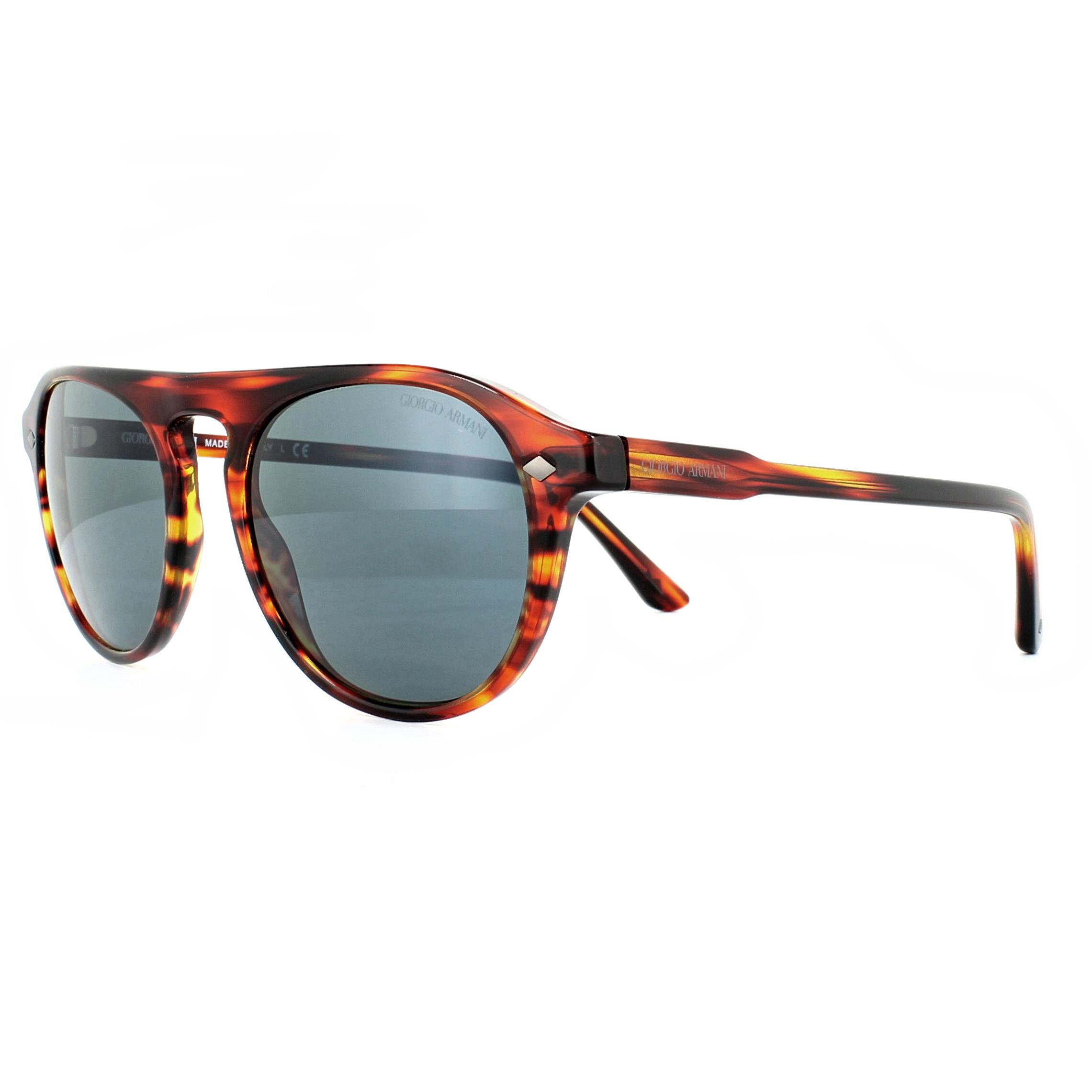 137c299d68ab Sentinel Giorgio Armani Sunglasses AR8096 5580R5 Striped Red Grey