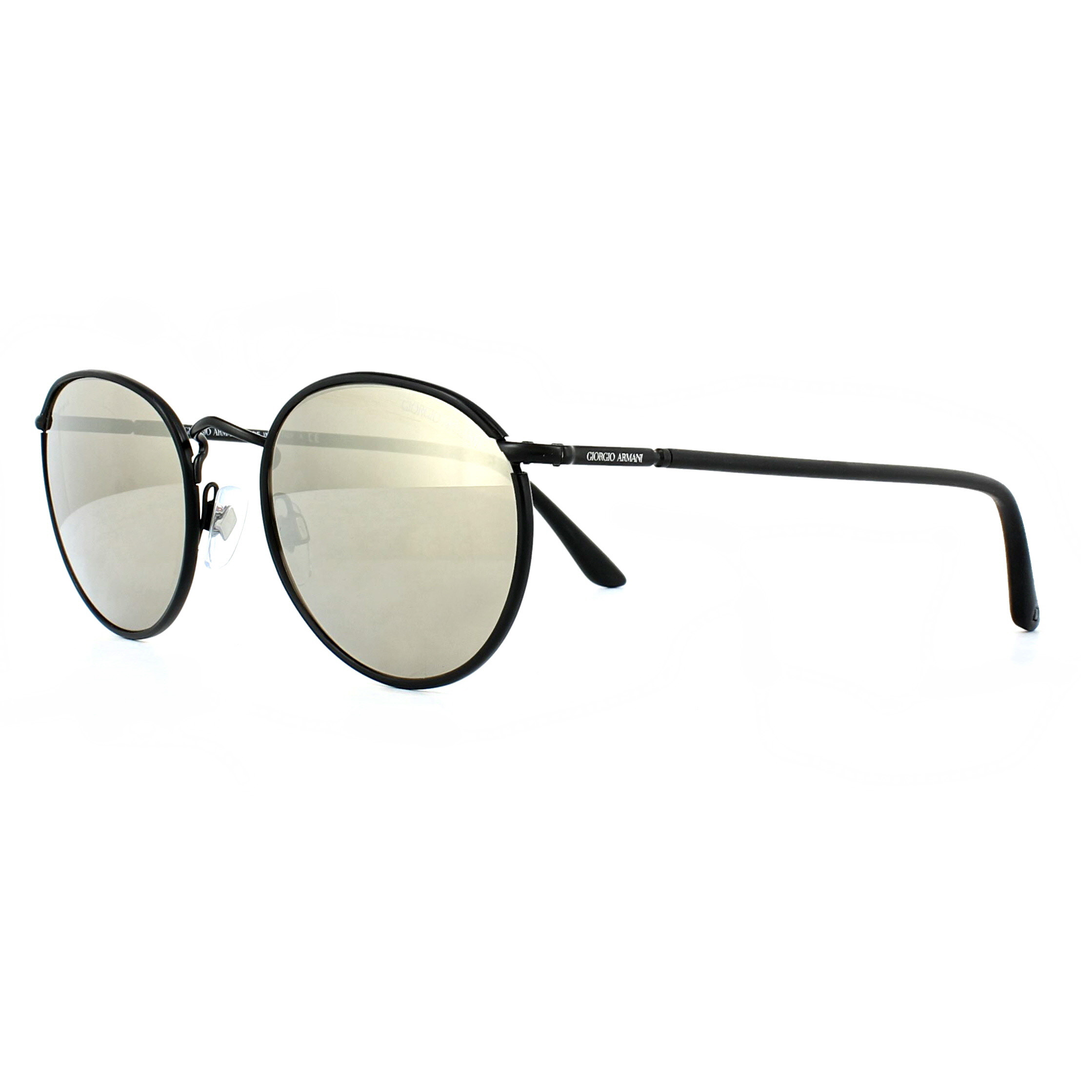 725127f39592 Sentinel Giorgio Armani Sunglasses AR6016J 30015A Matte Black Light Brown Gold  Mirror