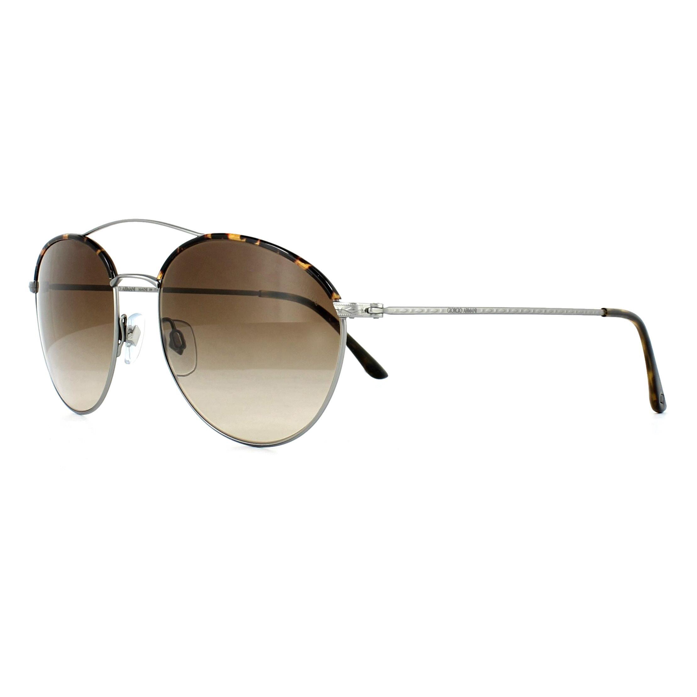 327a3a7b341f4 Sentinel Giorgio Armani Sunglasses AR6032J 300313 Matte Gunmetal Brown  Gradient