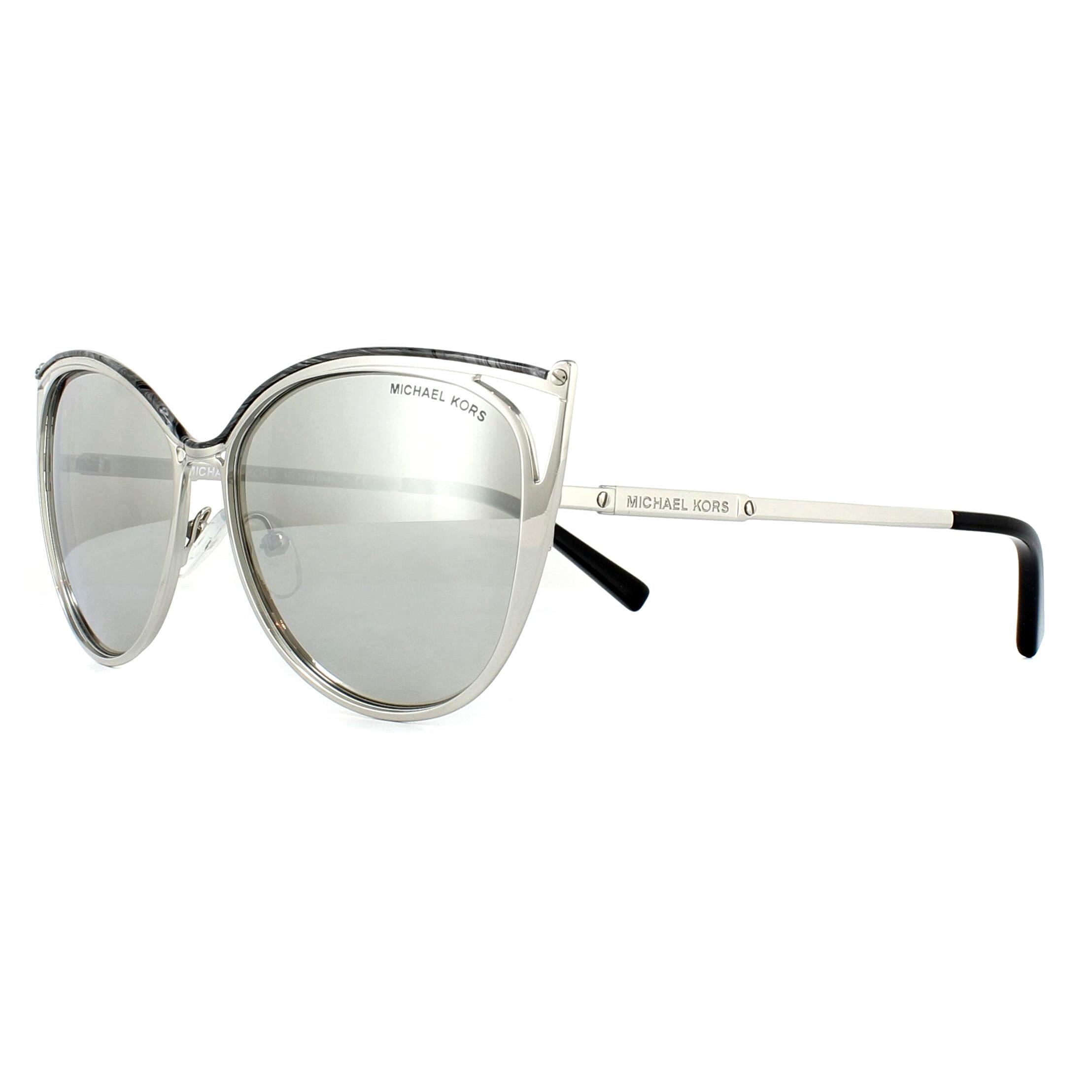 1b4f325818 Sentinel Michael Kors Sunglasses Ina 1020 11666G Silver Silver Mirror.  Sentinel Thumbnail 2