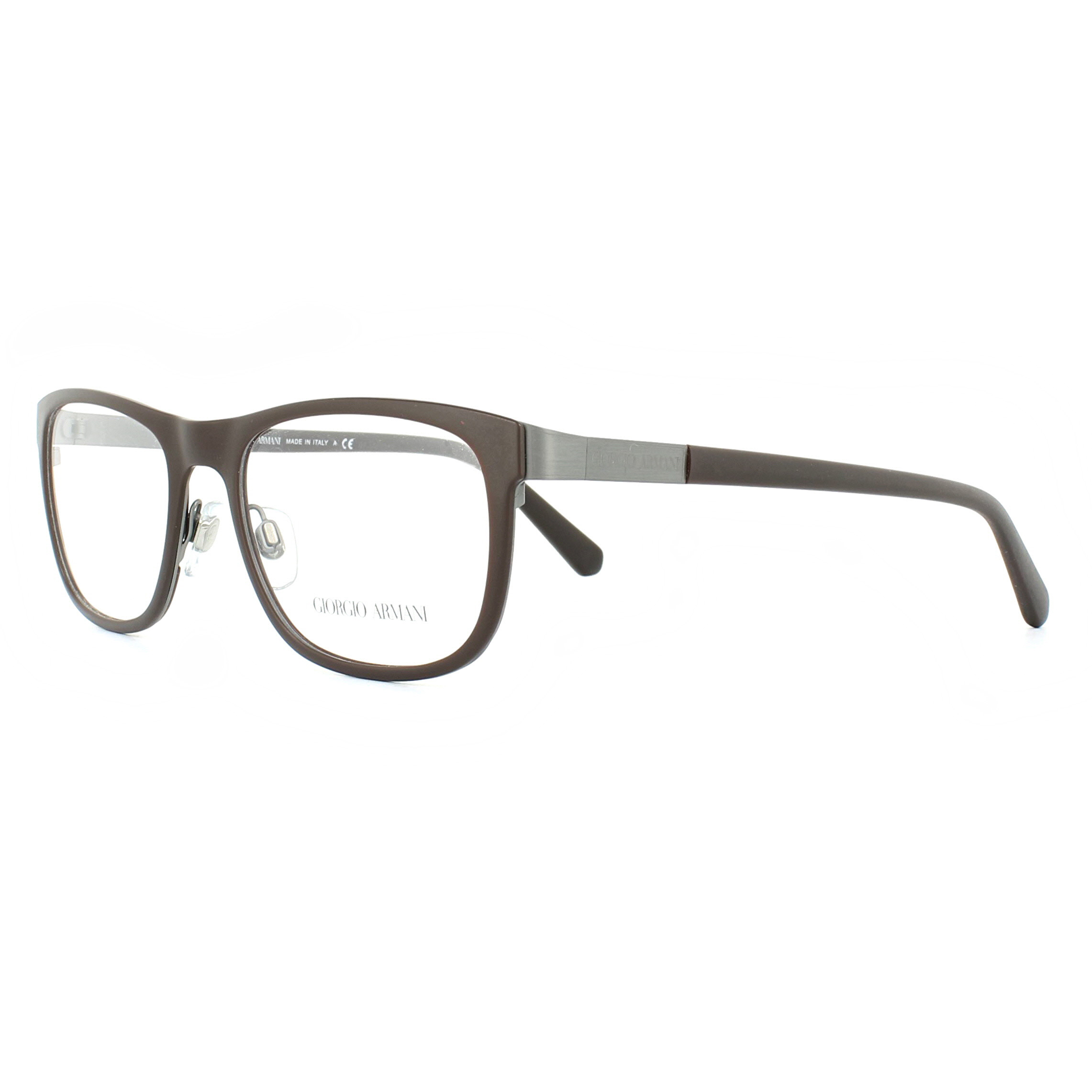 5ae5bcc9ec188 Sentinel Giorgio Armani Glasses Frames AR5012 3032 Matte Brown and Gunmetal  53mm Mens