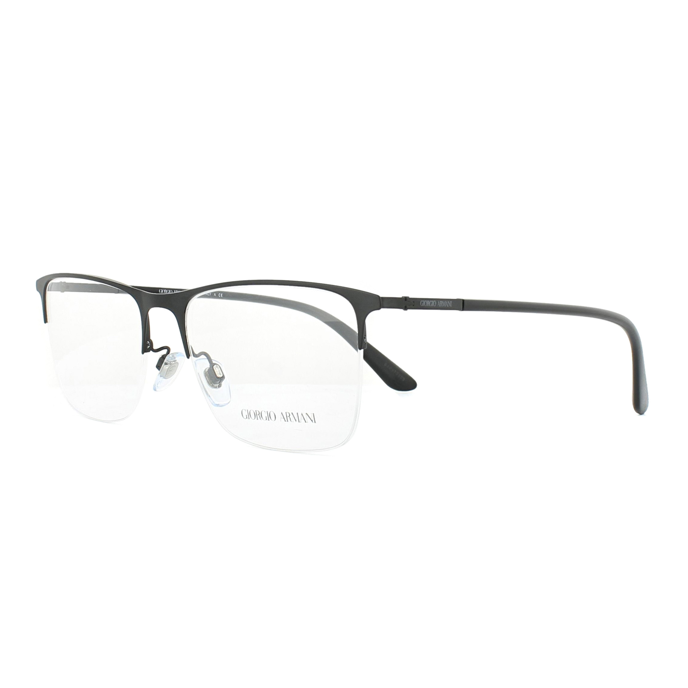 4c98606cf1f Details about Giorgio Armani Glasses Frames AR5072 3001 Matte Black 55mm  Mens