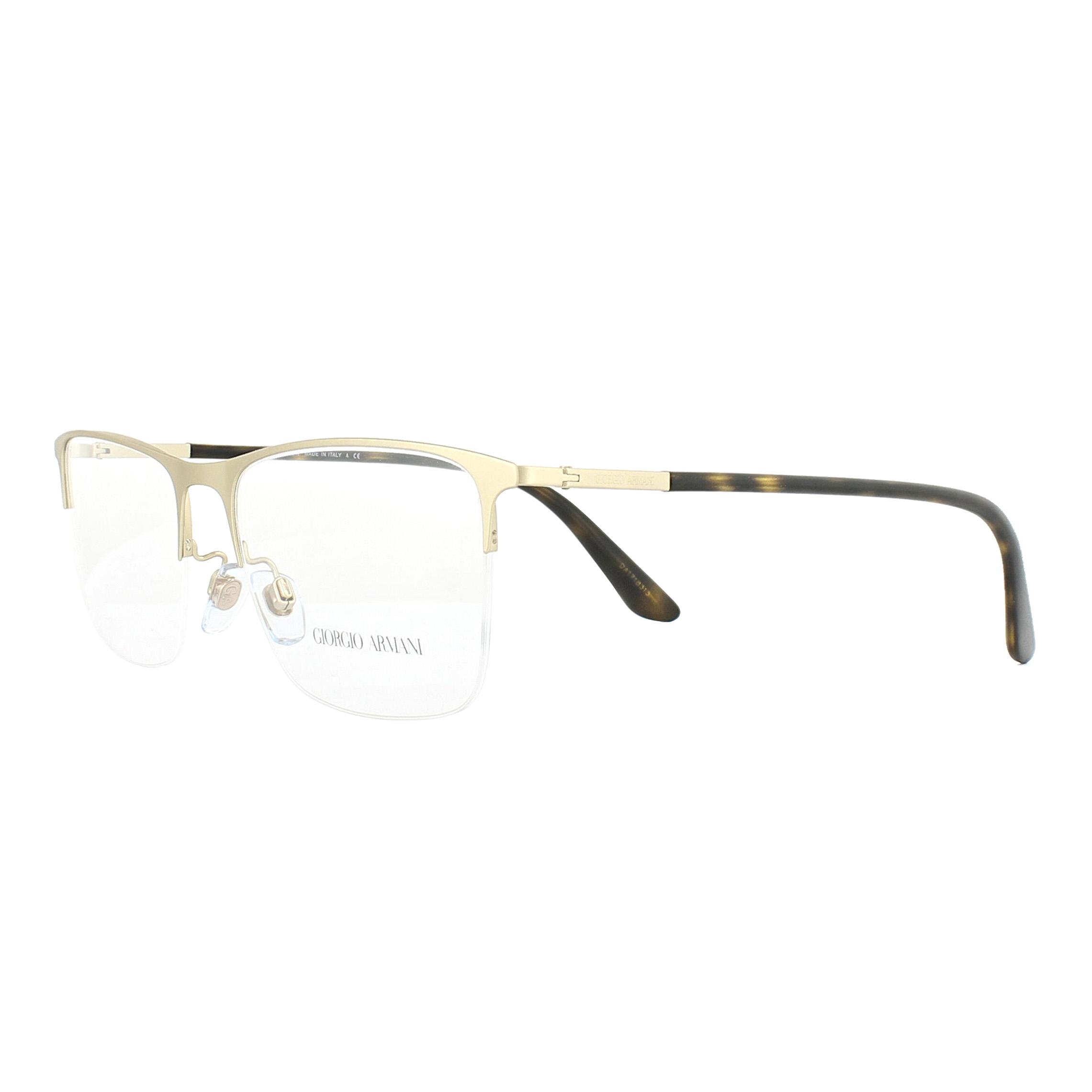8bafe4517b5f Sentinel Giorgio Armani Glasses Frames AR5072 3002 Pale Gold 55mm Mens