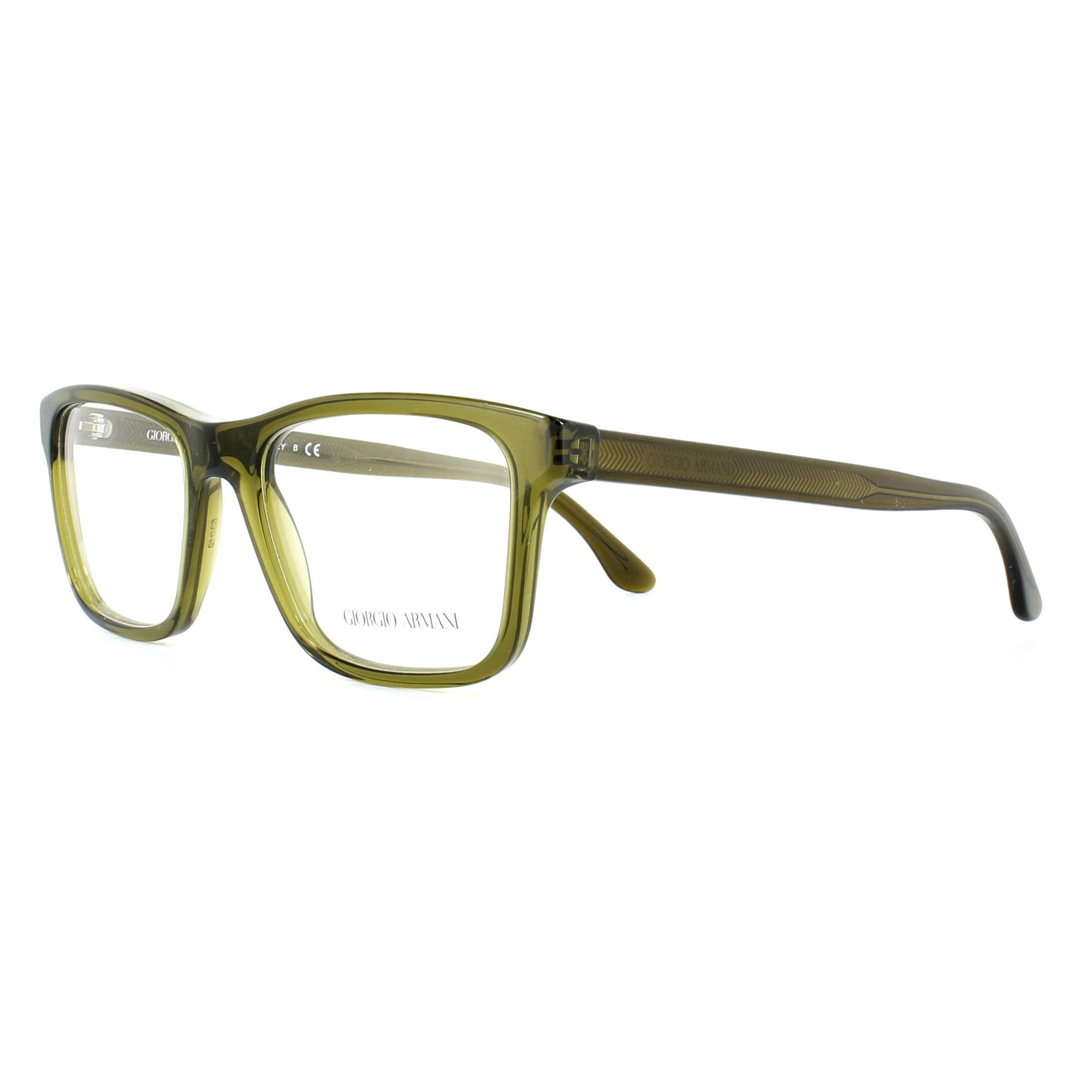 9dc8d5cd8884 Sentinel Giorgio Armani Glasses Frames AR7088 5439 Transparent Green 53mm  Mens