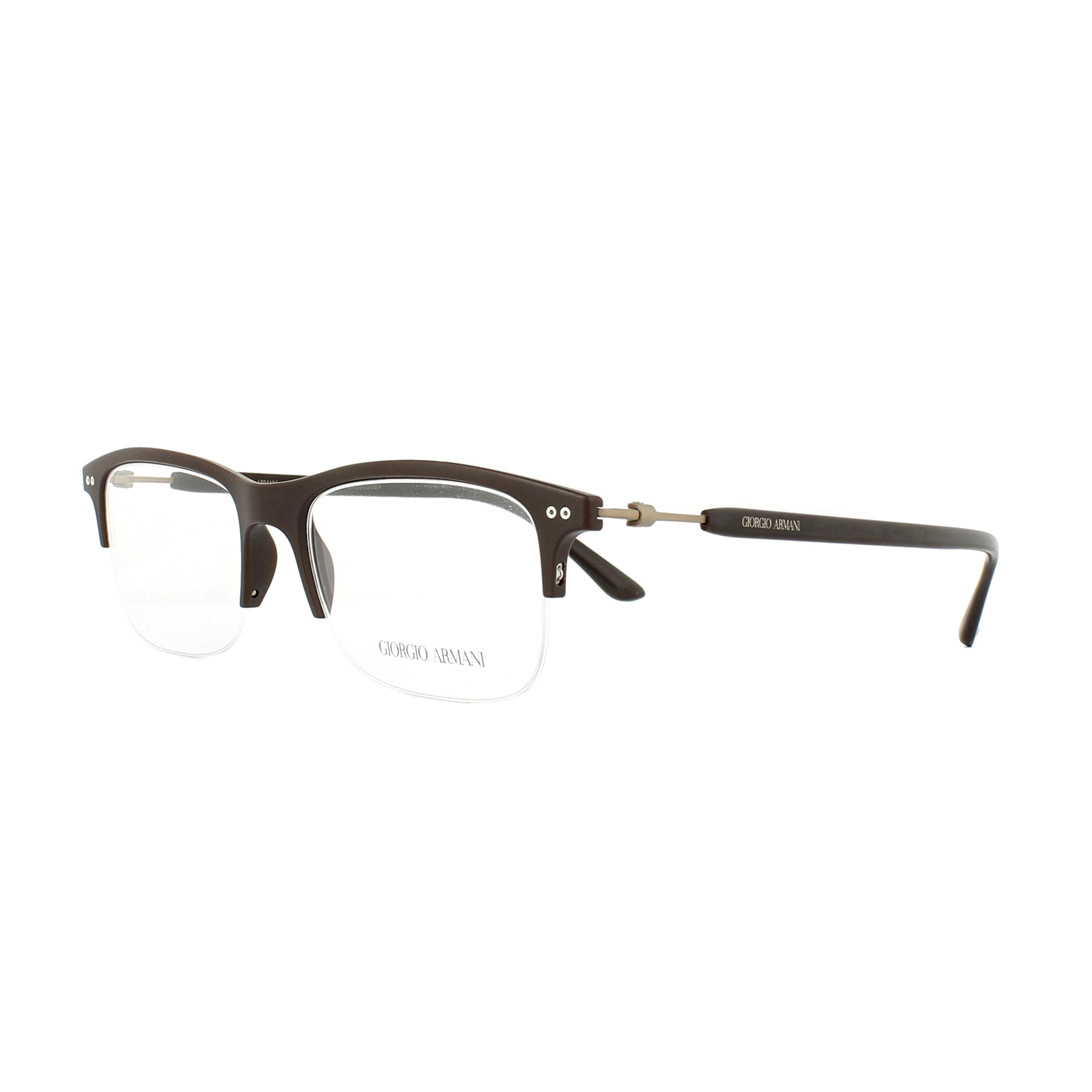 974fa33a3b63e Sentinel Giorgio Armani Glasses Frames AR7113 5491 Matte Brown 53mm Mens