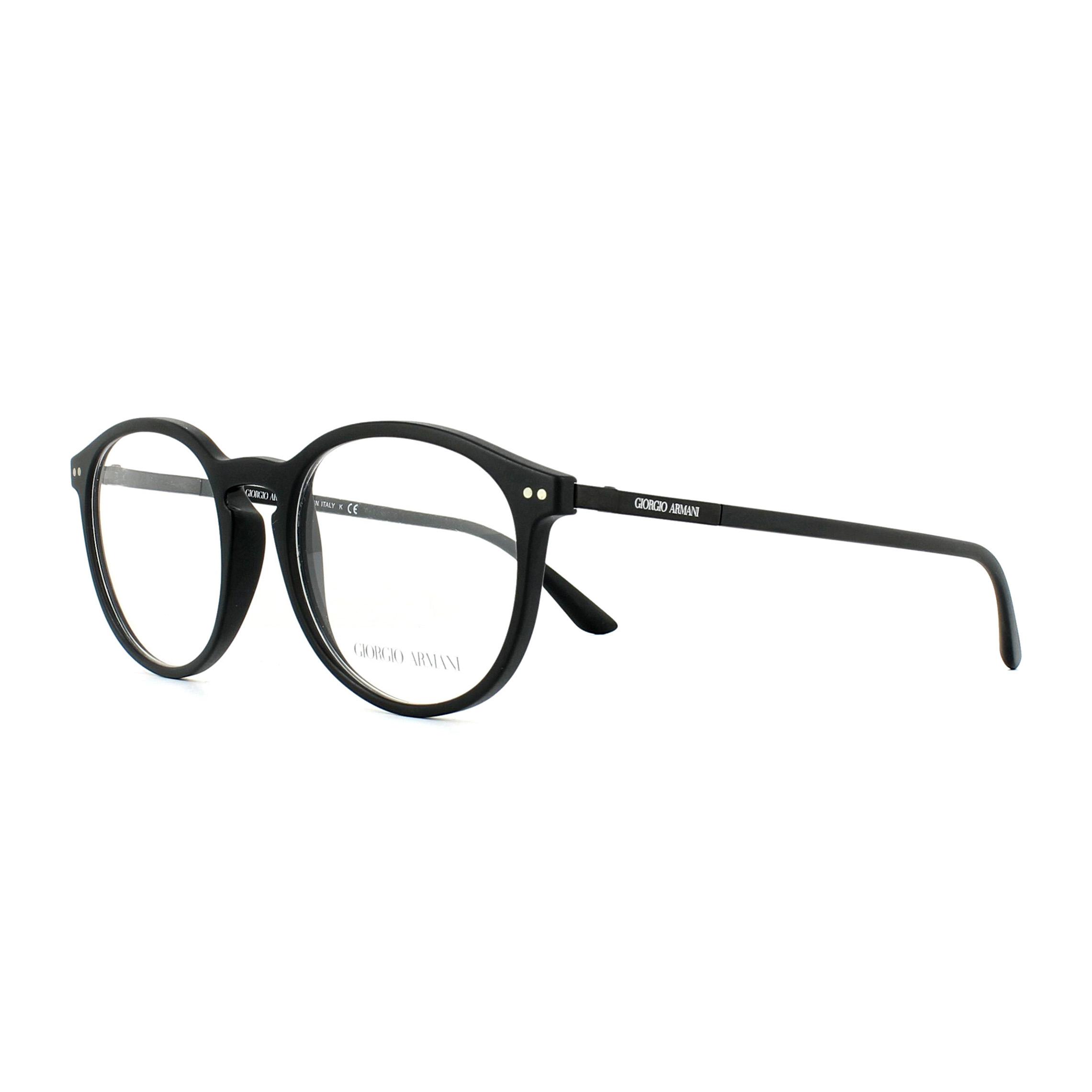 c34bfe3930f Sentinel Giorgio Armani Glasses Frames AR7121 5042 Matte Black 50mm Mens