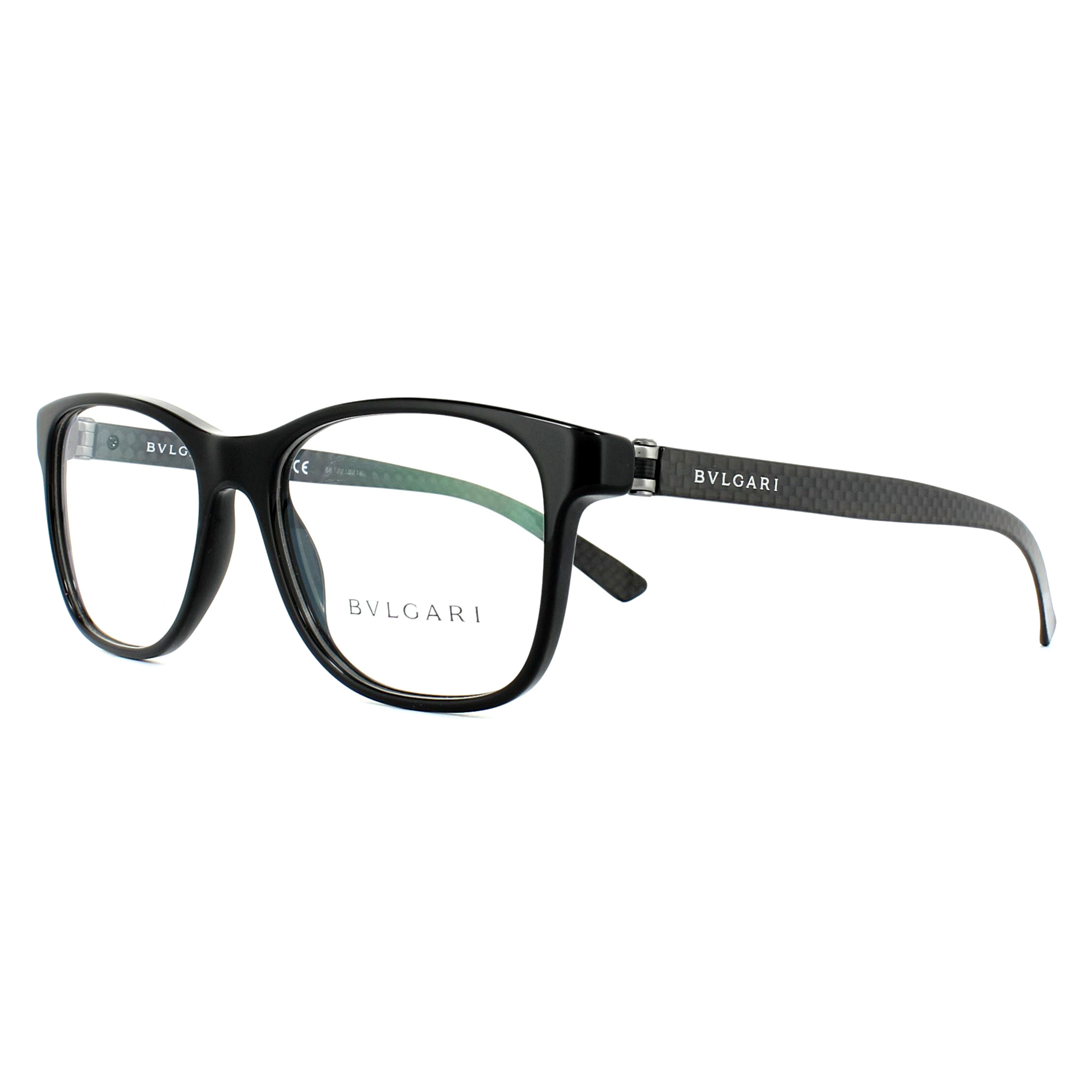 17f9e4479ce1f Sentinel Bvlgari Glasses Frames BV3036 501 Black 53mm Mens Womens
