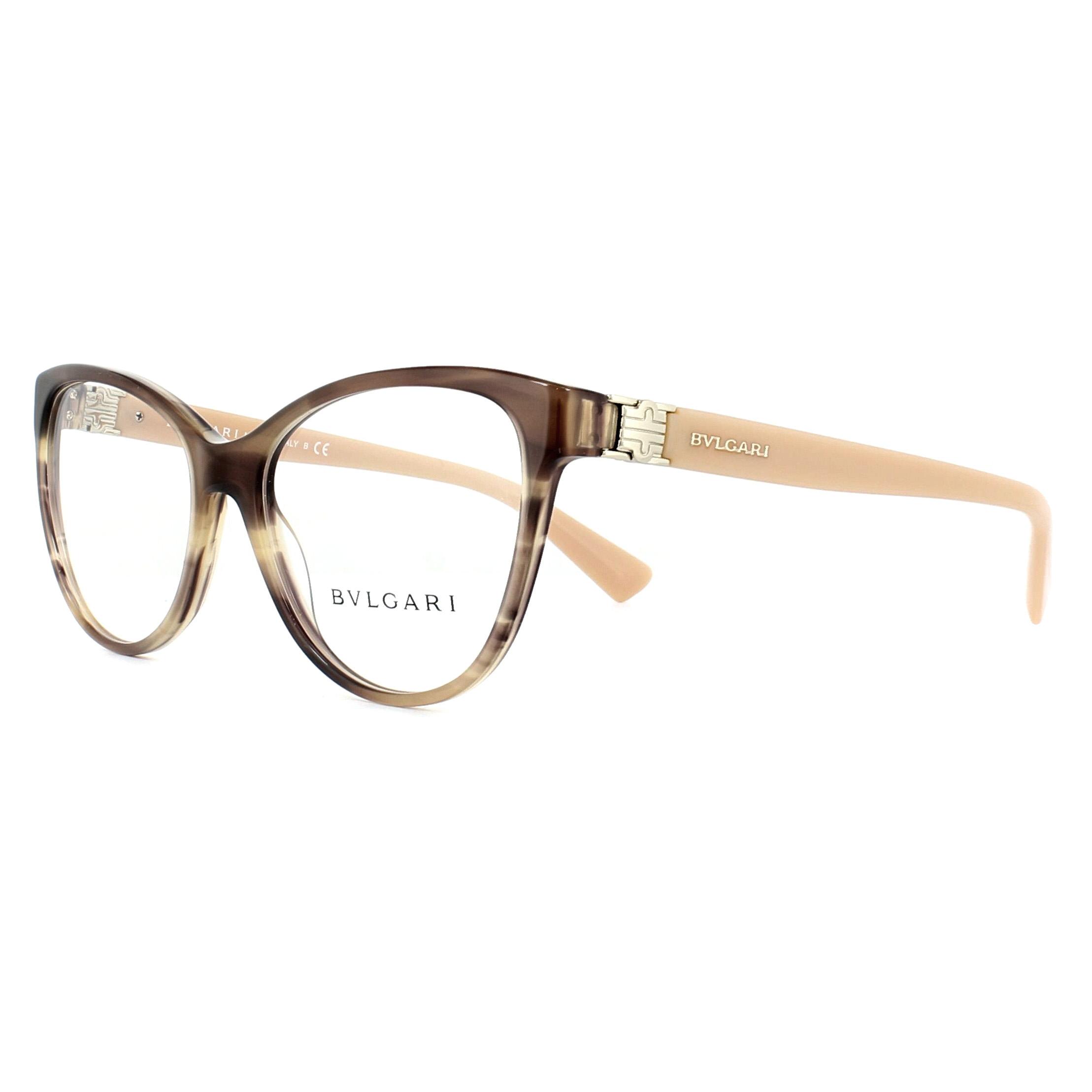 8a7ac87349f72 Sentinel Bvlgari Glasses Frames BV4151 5240 Striped Brown 54mm Womens