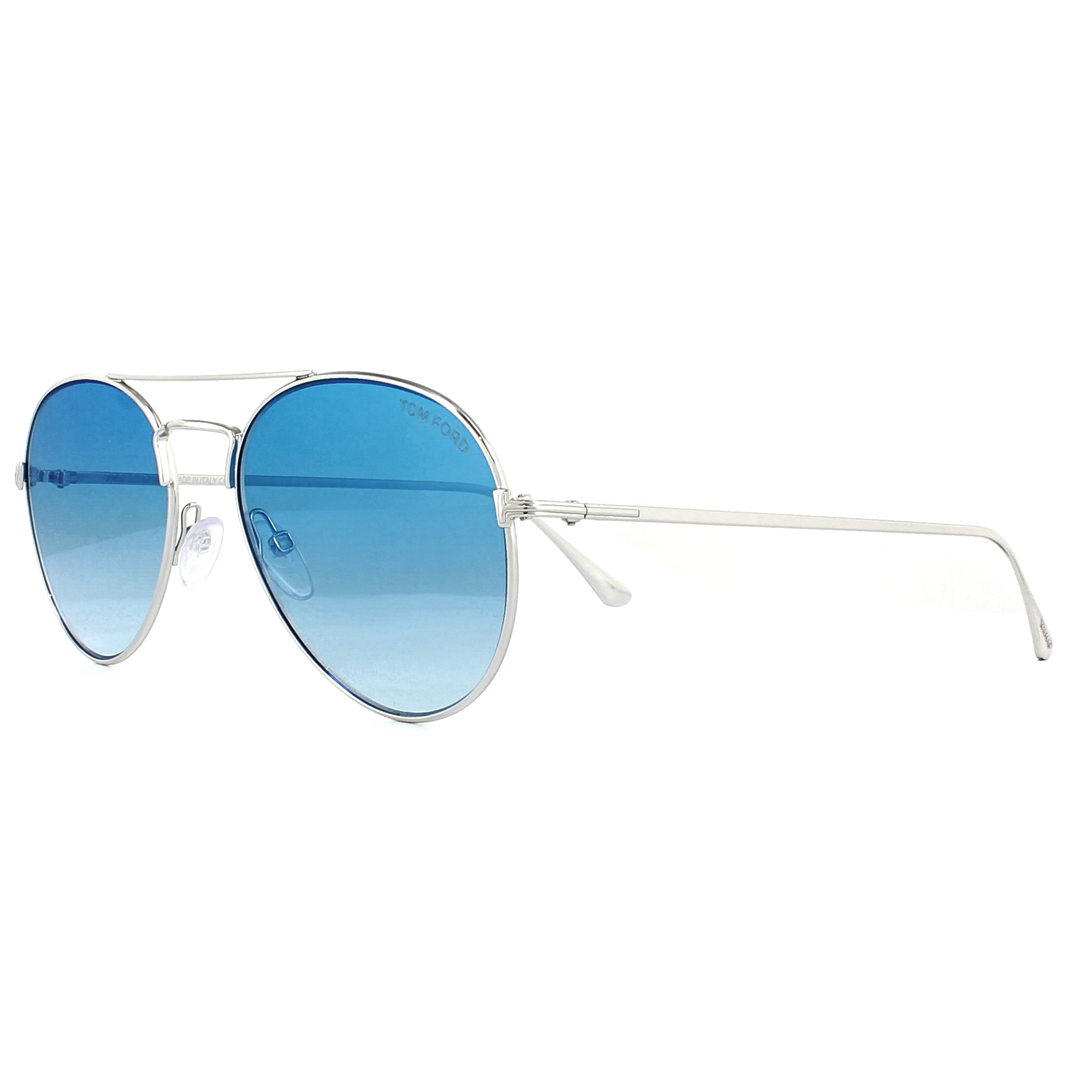 ce02c68cce5b Sentinel Tom Ford Sunglasses 0551 Ace 18X Shiny Rhodium Blue Mirror