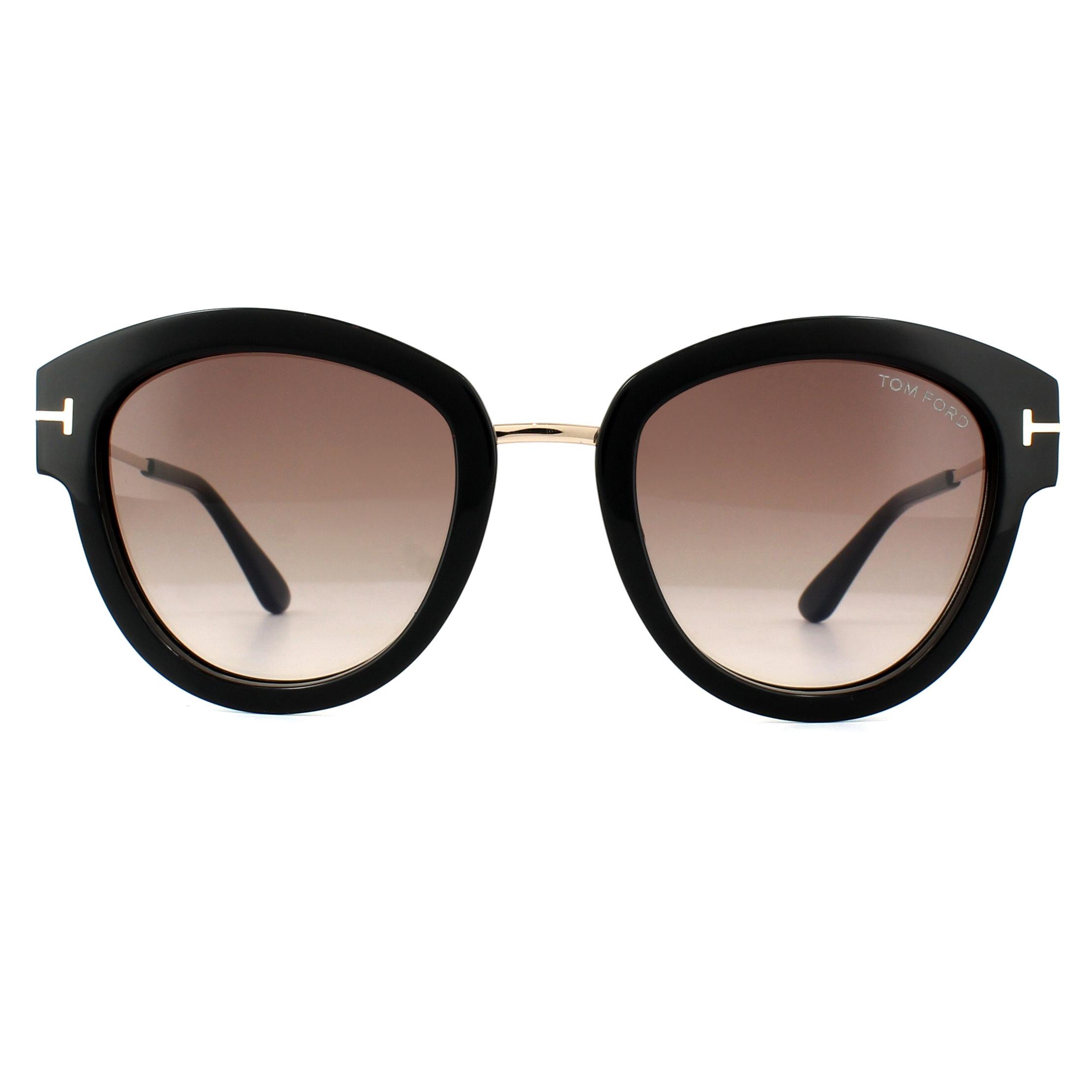 affbb697e36 Sentinel Tom Ford Sunglasses 0574 Mia 01T Shiny Black Bordeaux Gradient