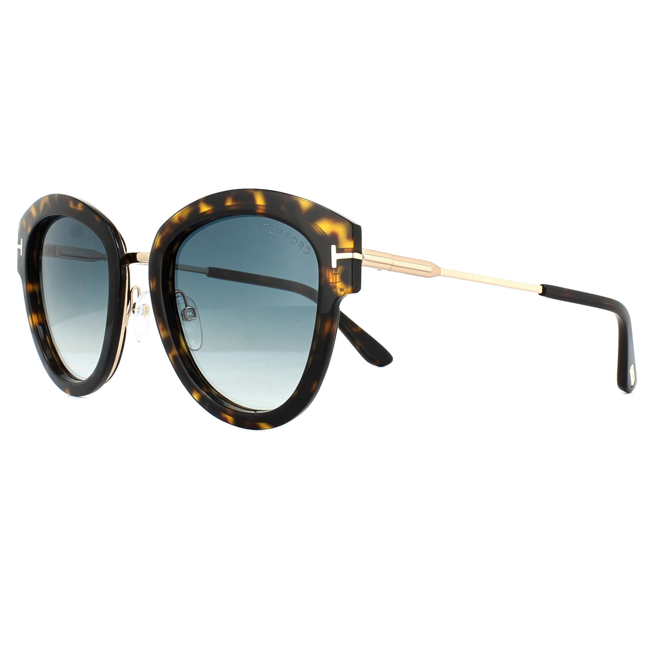 92a825f9fc Sentinel Tom Ford Sunglasses 0574 Mia 52P Dark Havana Green Gradient