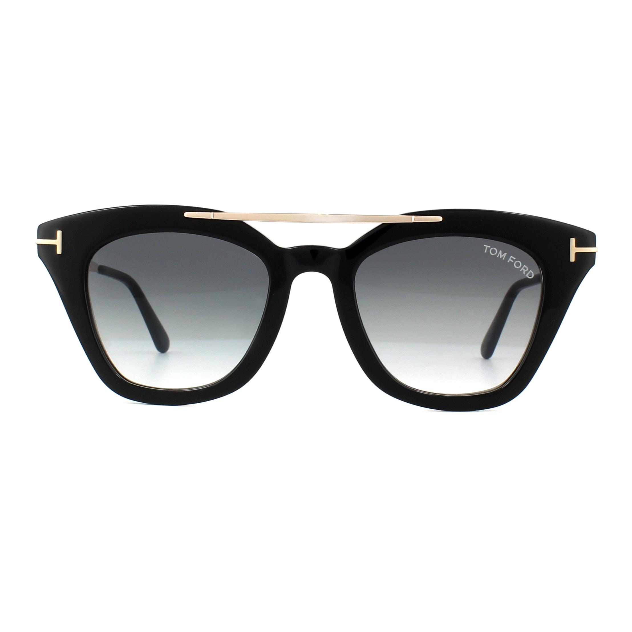 5c7db3b6d91 Sentinel Tom Ford Sunglasses 0575 Anna 01B Shiny Black Grey Gradient