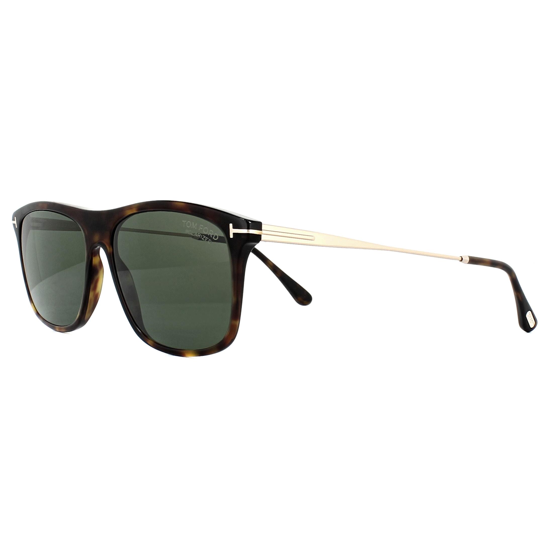 a097b68f8f5e Sentinel Tom Ford Sunglasses 0588 Max 52R Dark Havana Green Polarized