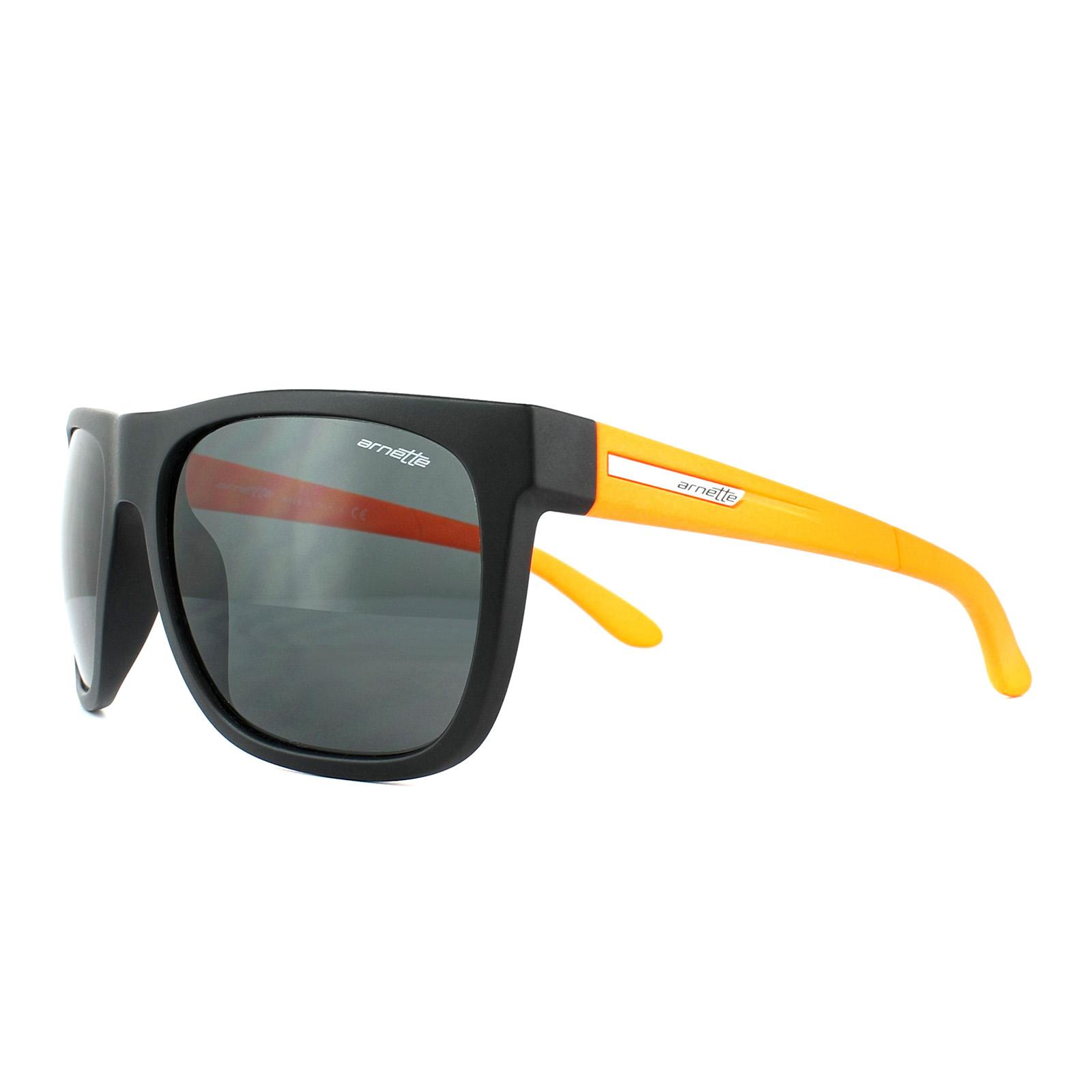 769241818a Sentinel Arnette Sunglasses 4143 Fire Drill 205587 Black Orange Grey