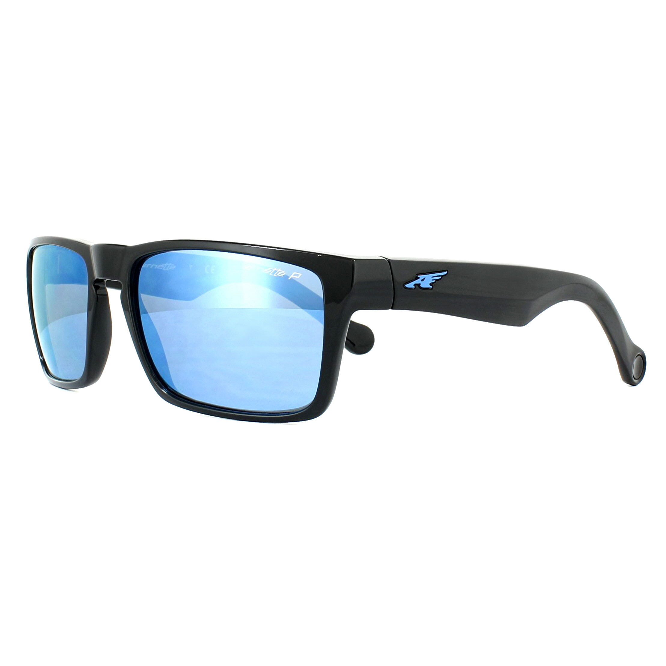 e81479af1 Sentinel Arnette Sunglasses Specialist 4204 41/22 Black Grey Mirror Water  Polarized