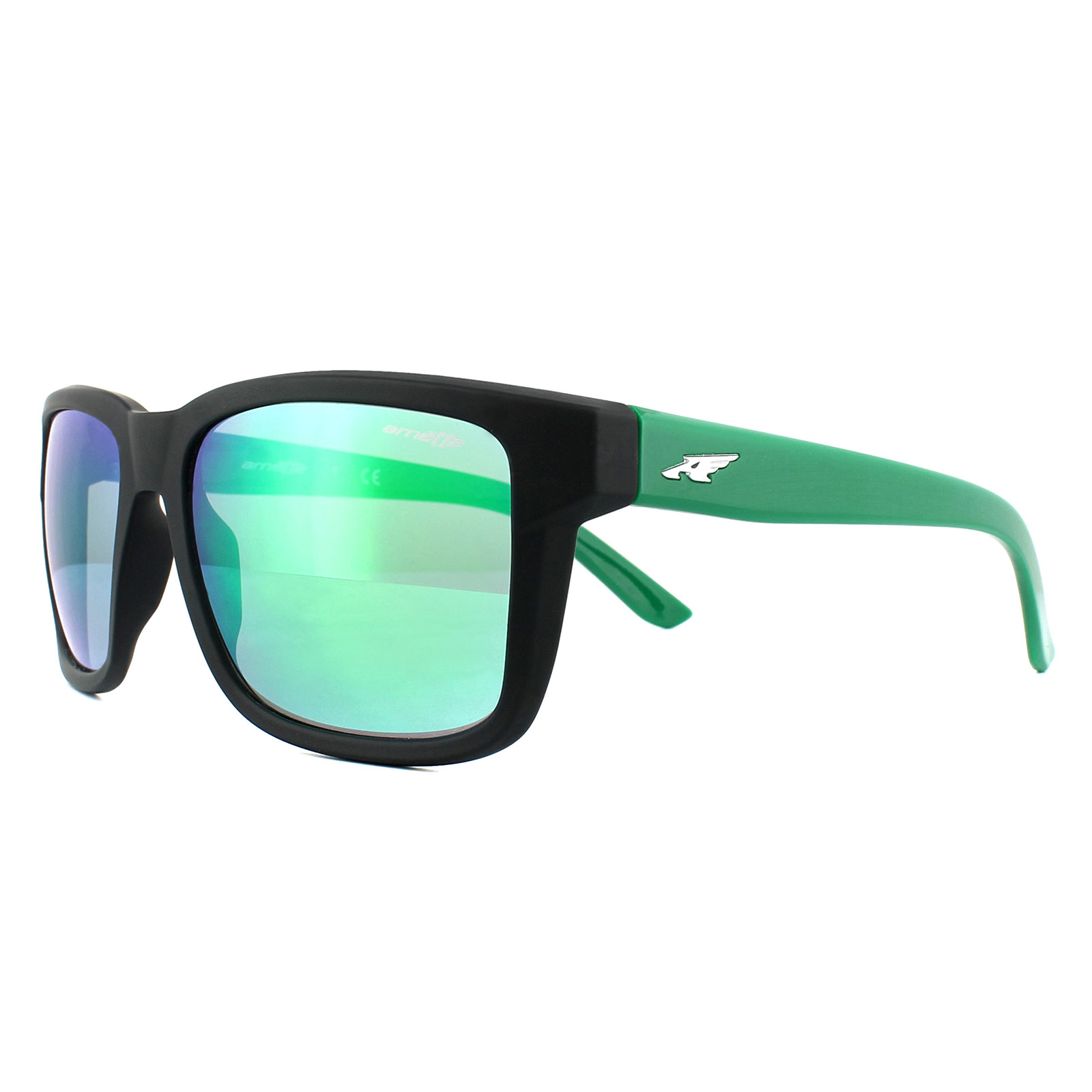 c8e2e7a37a343 Sentinel Arnette Sunglasses Swindle 4218 23343R Fuzzy Black Green Mirror