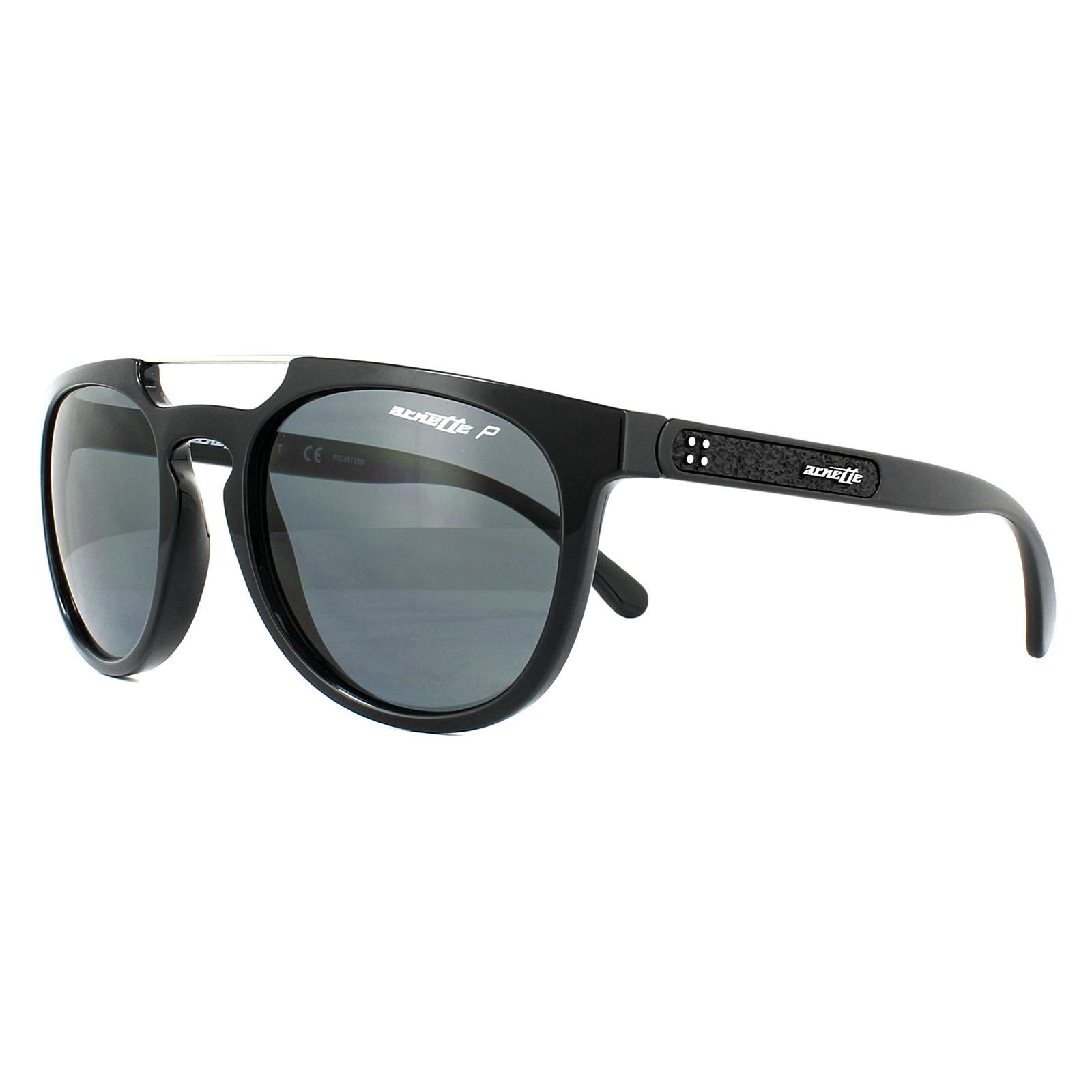 d5887f1223 Sentinel Arnette Sunglasses Woodward 4237 41 81 Black Grey Polarized
