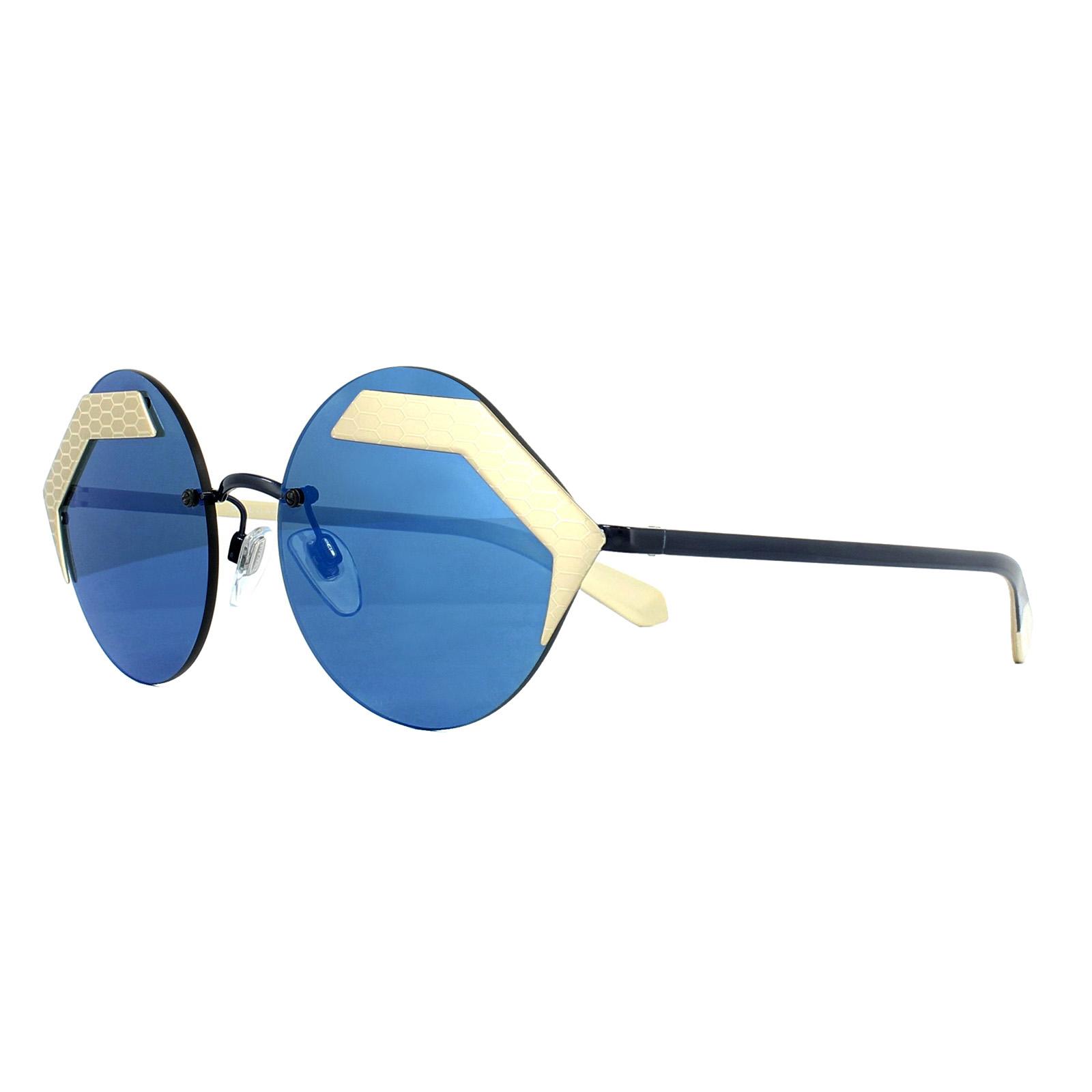 31e8a7203be Sentinel Bvlgari Sunglasses 6089 202255 Pale Gold Cocoa Blue Mirror