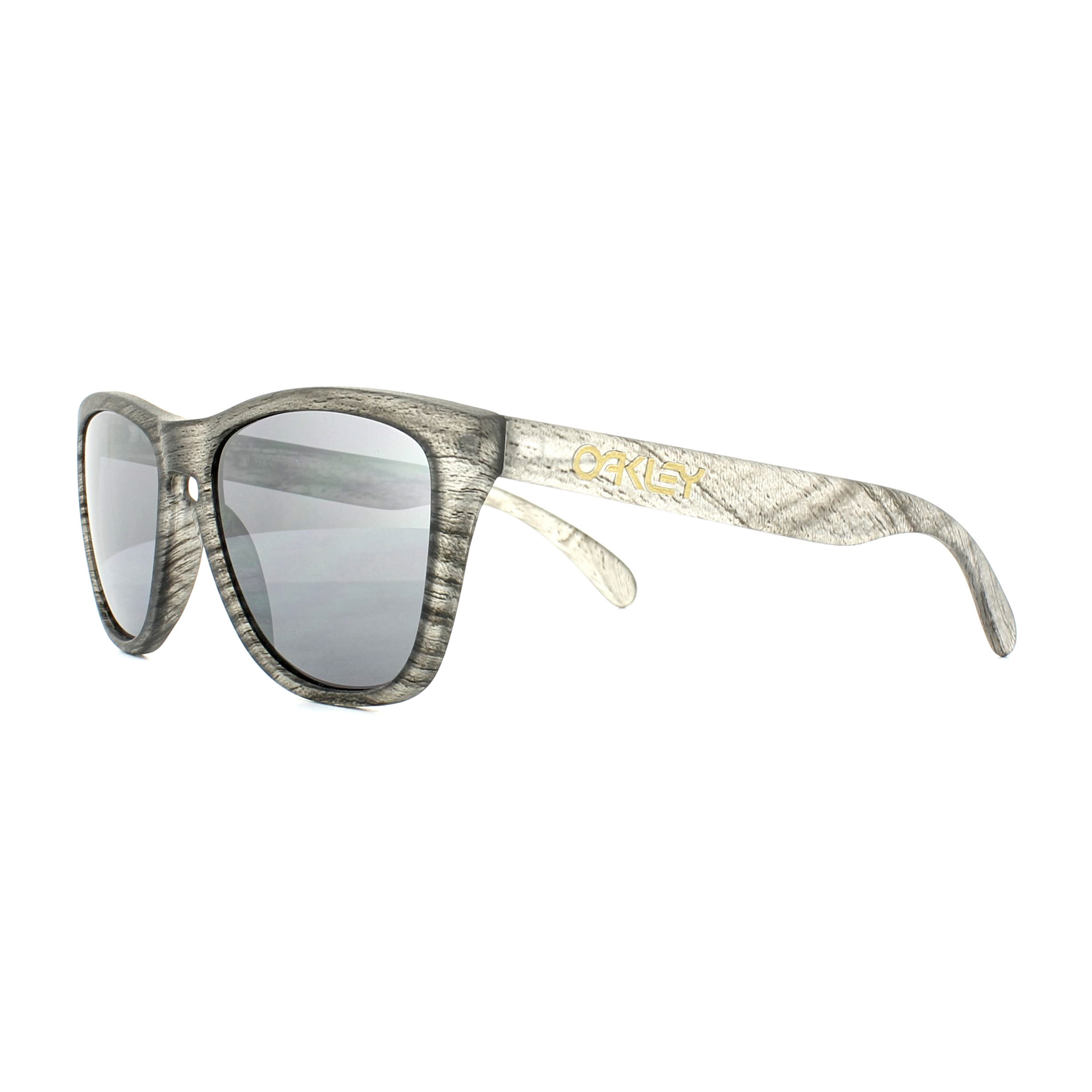 ONE SIZE Oakley Frogskins -matte clear woodgrain/black iridium HIWu9i