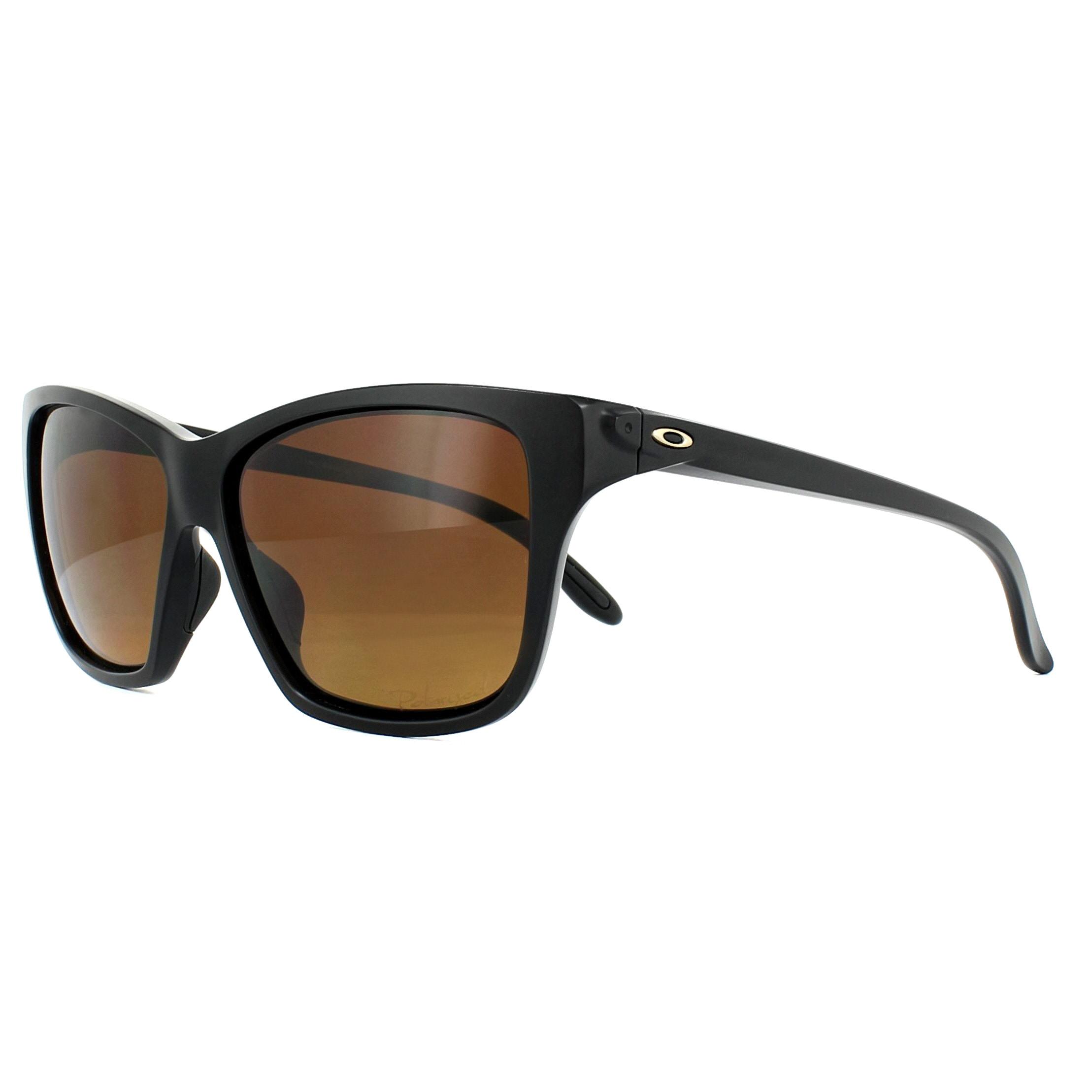 baa72bc7abe28 Sentinel Oakley Sunglasses Hold On OO9298-01 Matt Black Brown Gradient  Polarized