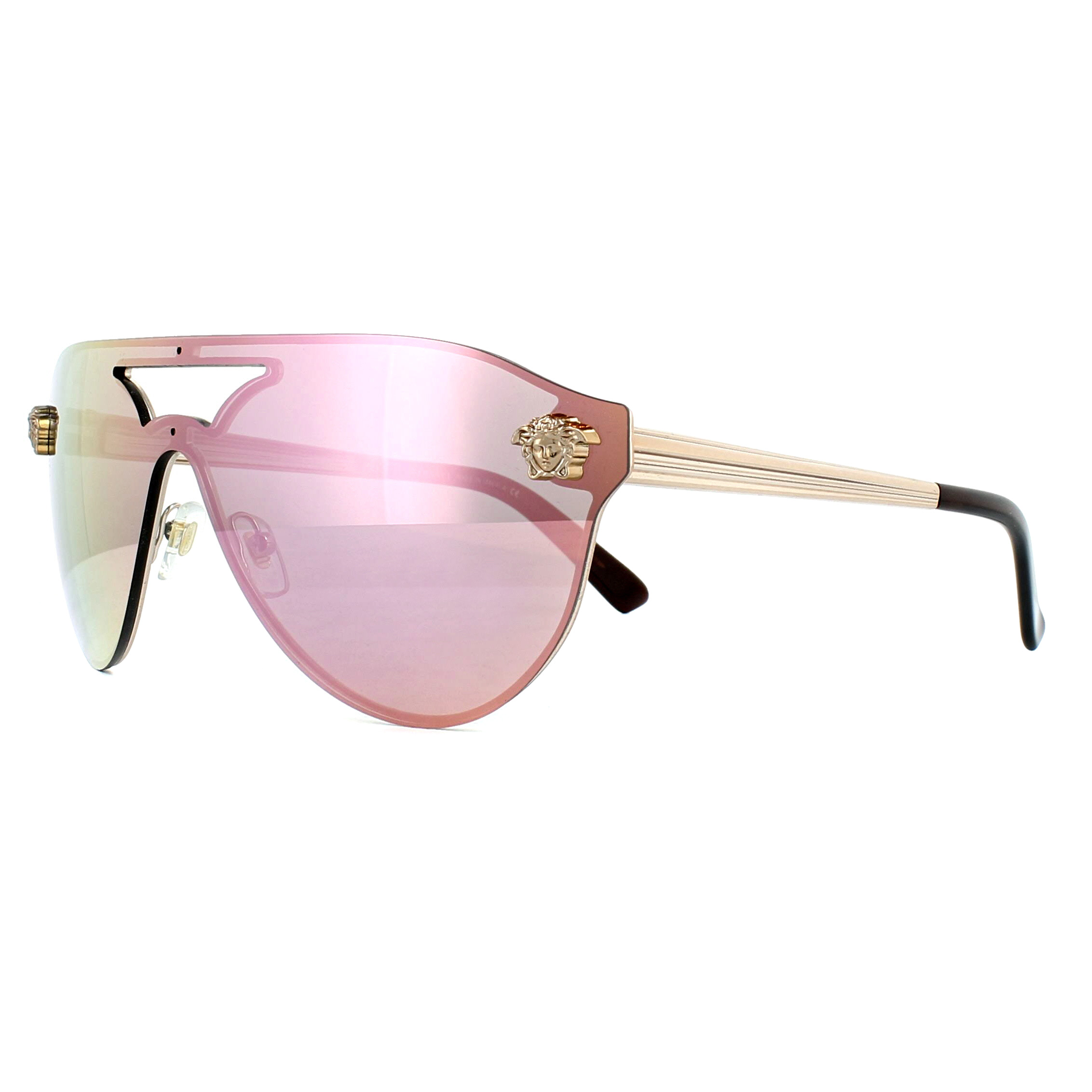 5a678d2f32a9 Sentinel Versace Sunglasses 2161 10524Z Copper Yellow Rose Mirror