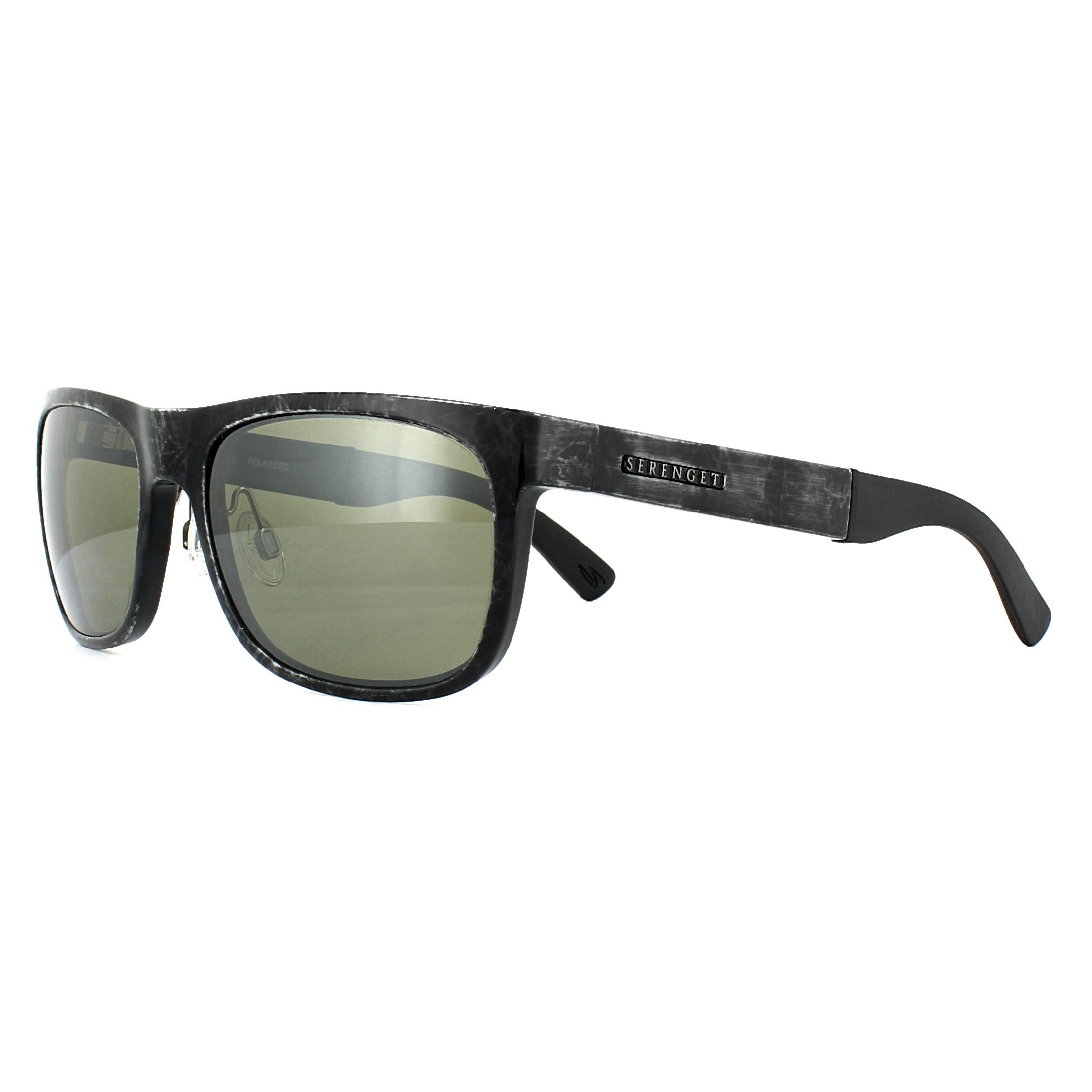 7bfa44247afa Sentinel Serengeti Sunglasses Nico 7647 Shiny Grey Marble 555nm Green  Polarized