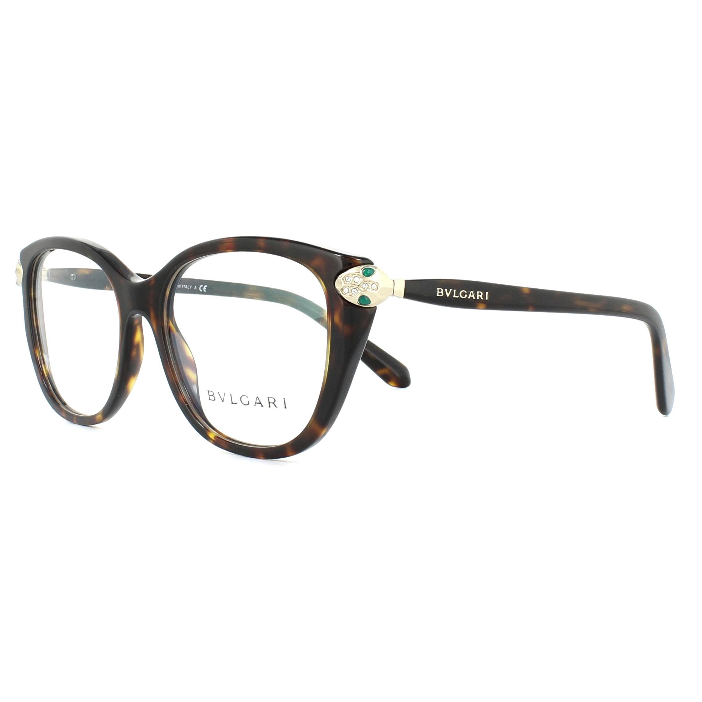 ecba3ee35f7c Sentinel Bvlgari Glasses Frames 4140B 504 Dark Havana 54mm Womens