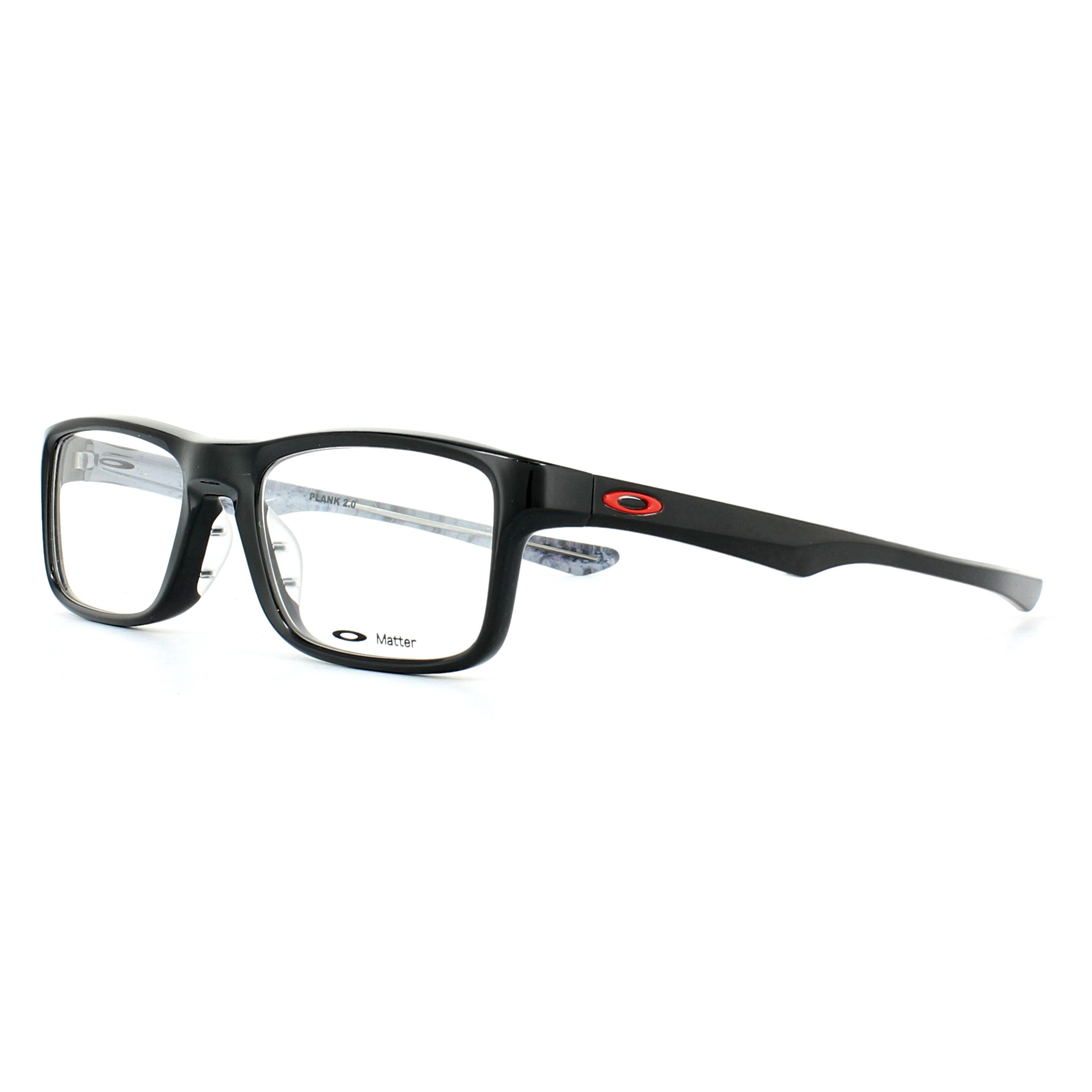 d1c7807aed Sentinel Oakley Glasses Frames Plank 2.0 OX8081-02 Polished Black 51mm Mens