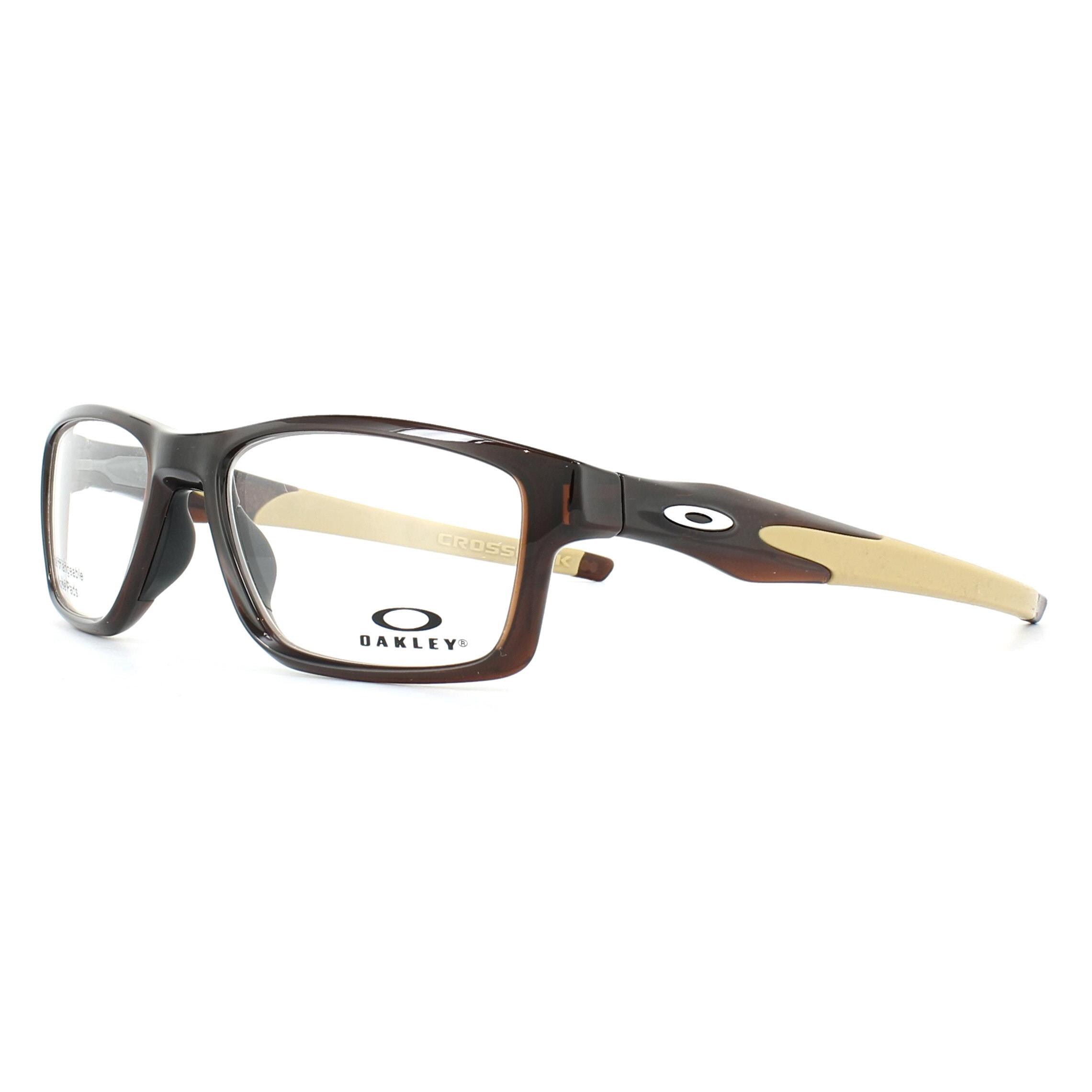 80792cbf312 Sentinel Oakley Glasses Frames Crosslink Trubridge OX8090-04 Polished  Rootbeer 55mm Mens