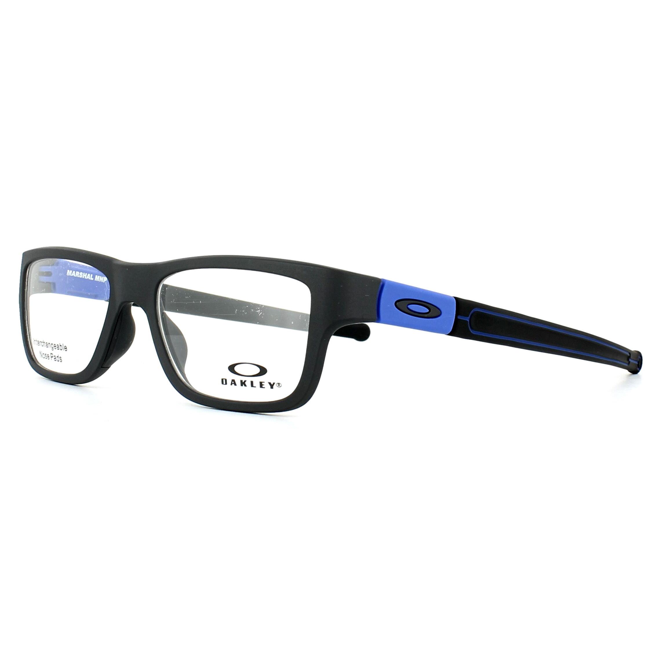 6fe6d57b43 Sentinel Oakley Glasses Frames Marshal Trubridge OX8091-05 Satin Black  Cobalt 51mm Mens