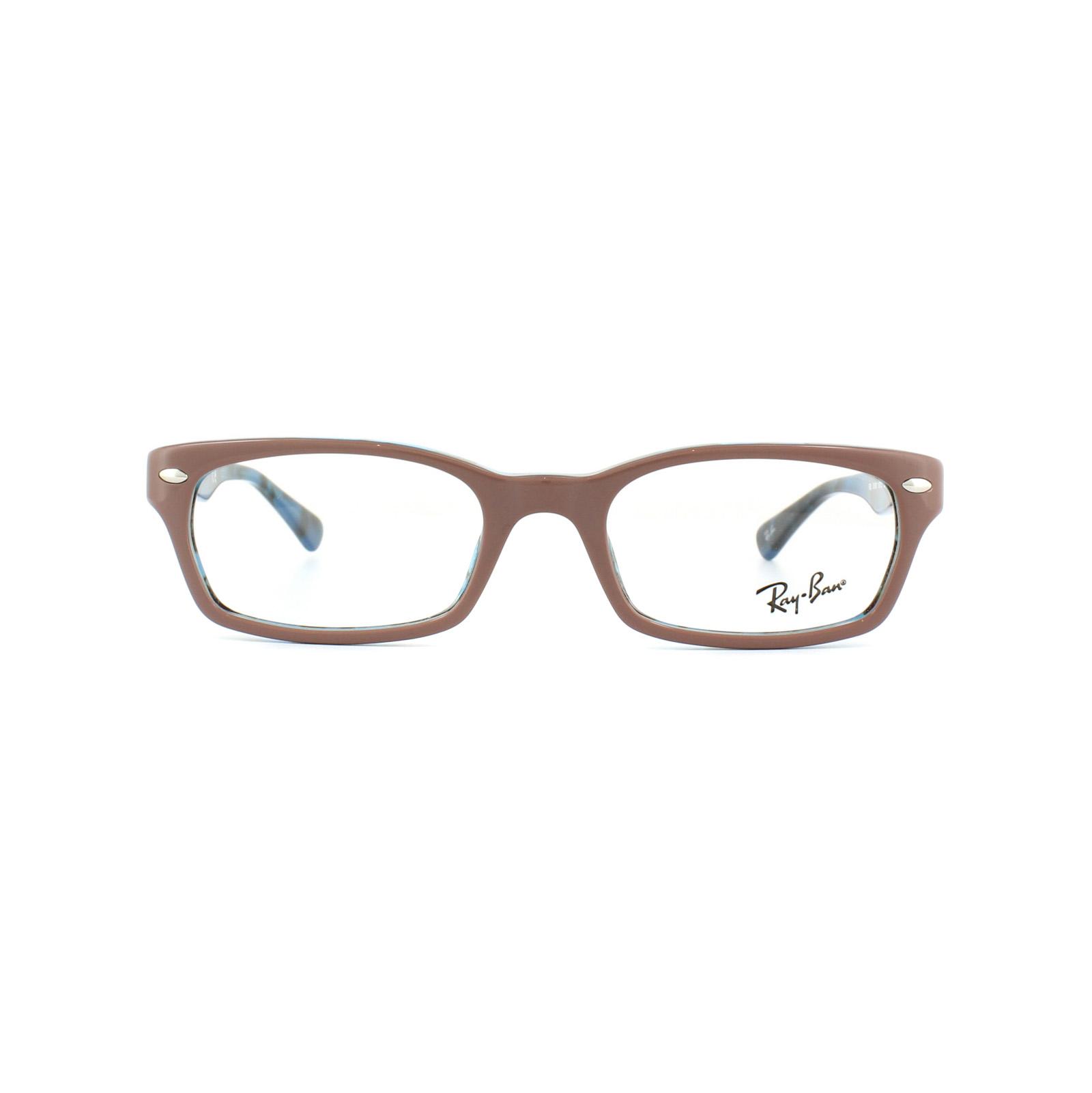 Ray-Ban Monturas De Gafas 5150 5715 Top marrón claro en HAVANA AZUL ...