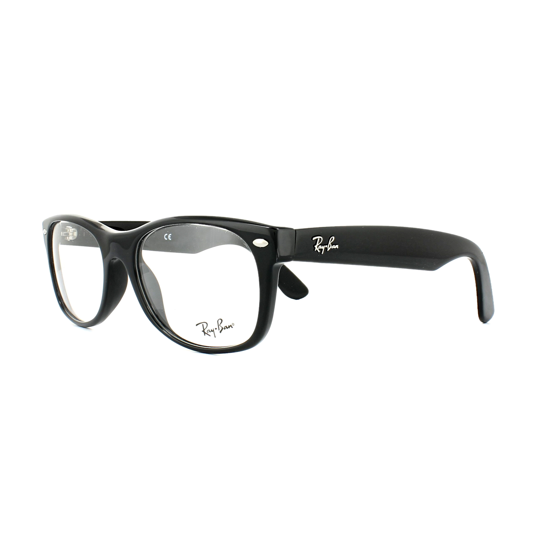 52eeccd5e6 Sentinel Ray-Ban Glasses Frames 5184 New Wayfarer 2000 Shiny Black 54mm Mens  Womens
