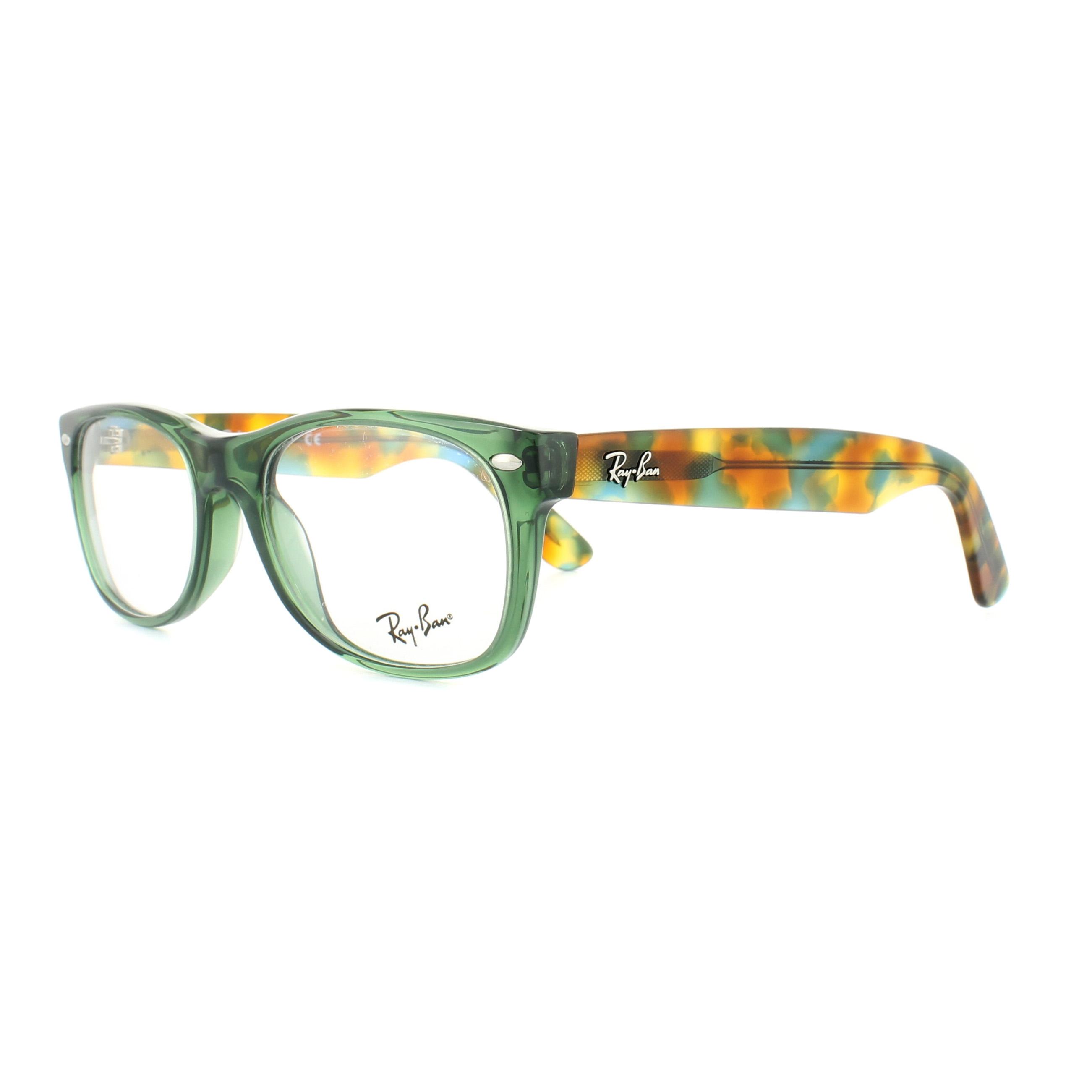 Ray-Ban Glasses Frames 5184 New Wayfarer 5630 Opal Green Tortoise ...