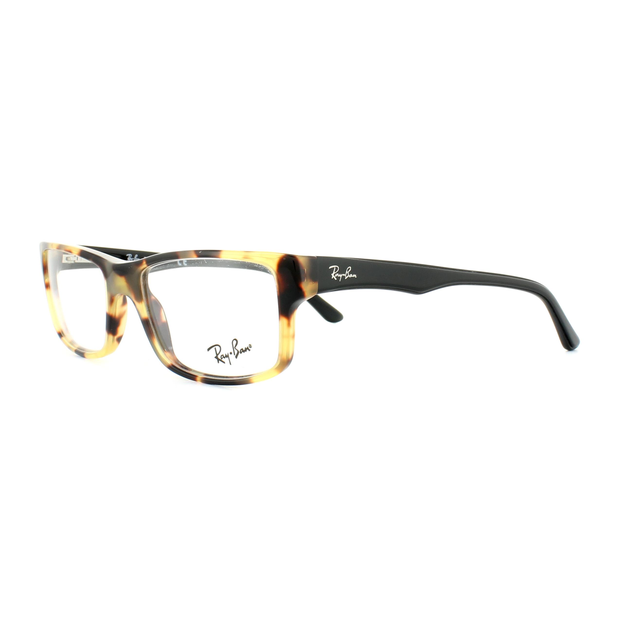 19e223b8de Sentinel Ray-Ban Glasses Frames 5245 5608 Yellow Tortoise Black 52mm Mens