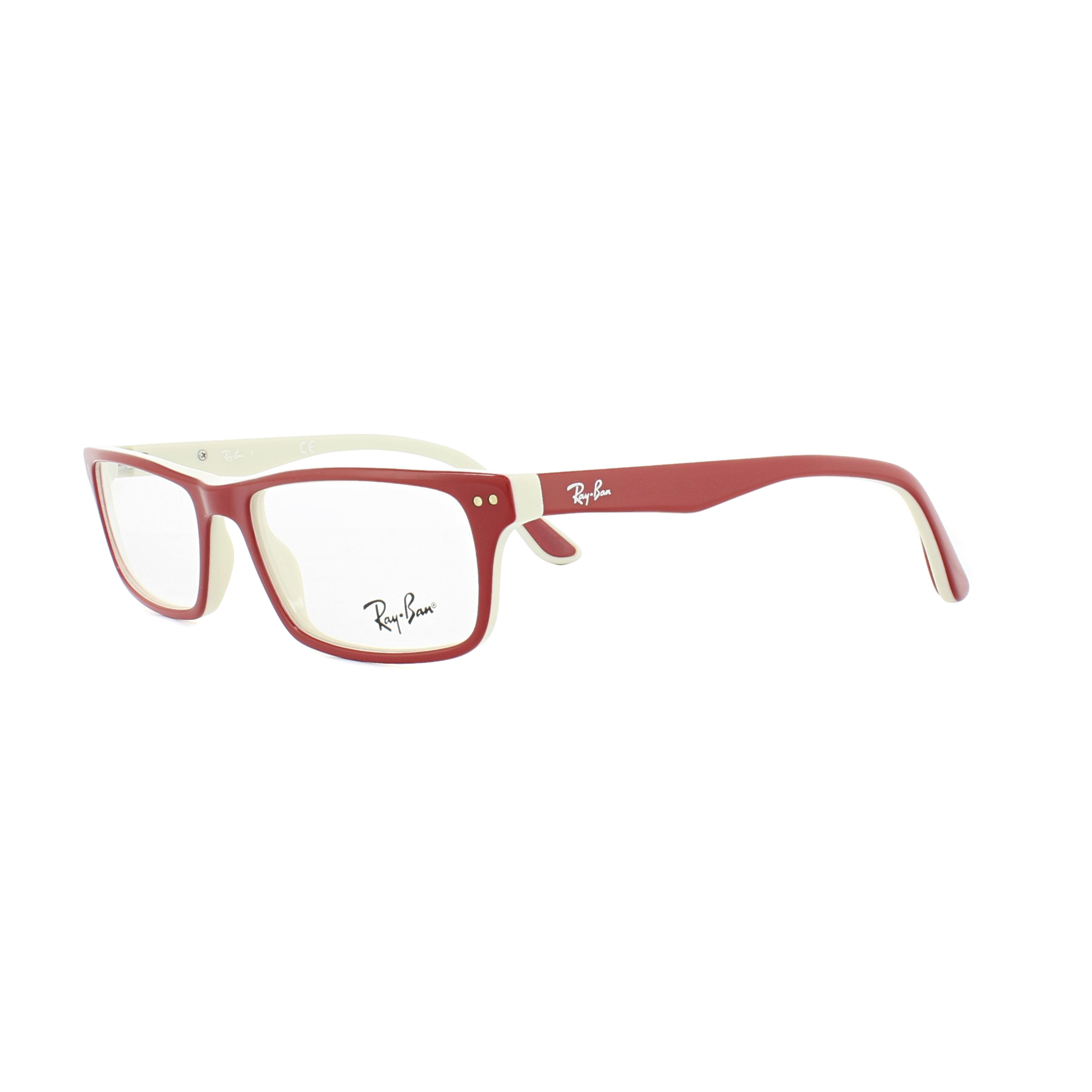 Ray-Ban Glasses Frames 5277 5136 Red Beige 52mm Mens Womens ...