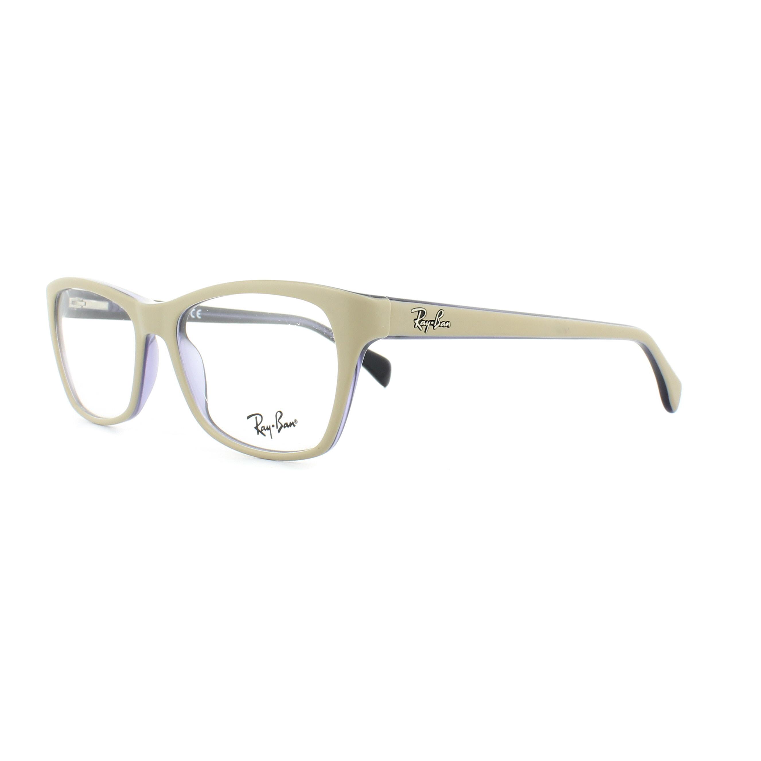 63a2f0b42a5 Sentinel Ray-Ban Glasses Frames 5298 5387 Matt Beige on Violet 53mm Womens