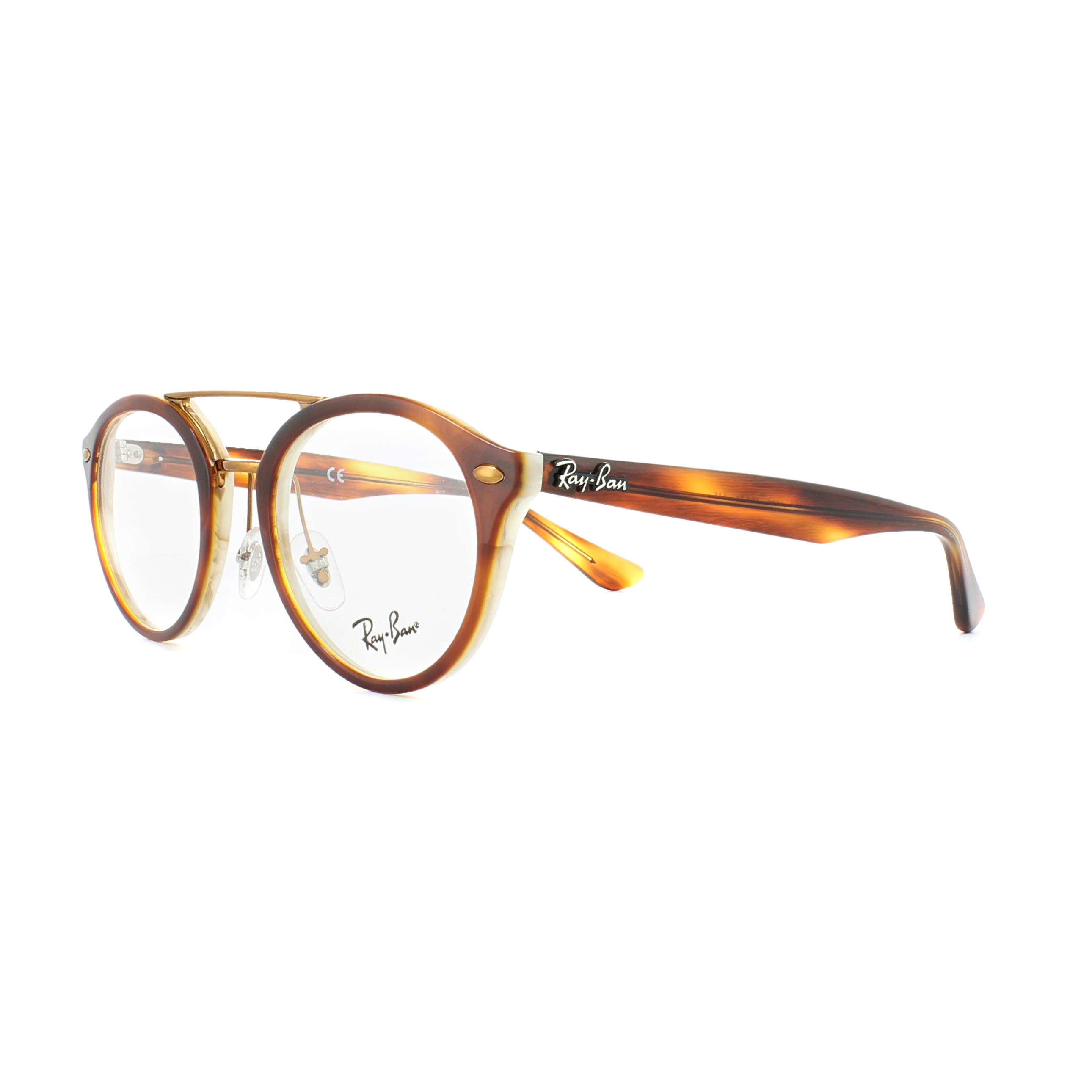 Sentinel Ray-Ban Glasses Frames 5354 5677 Havana Brown Horn Beige 50mm Mens  Womens f9de06c85cff