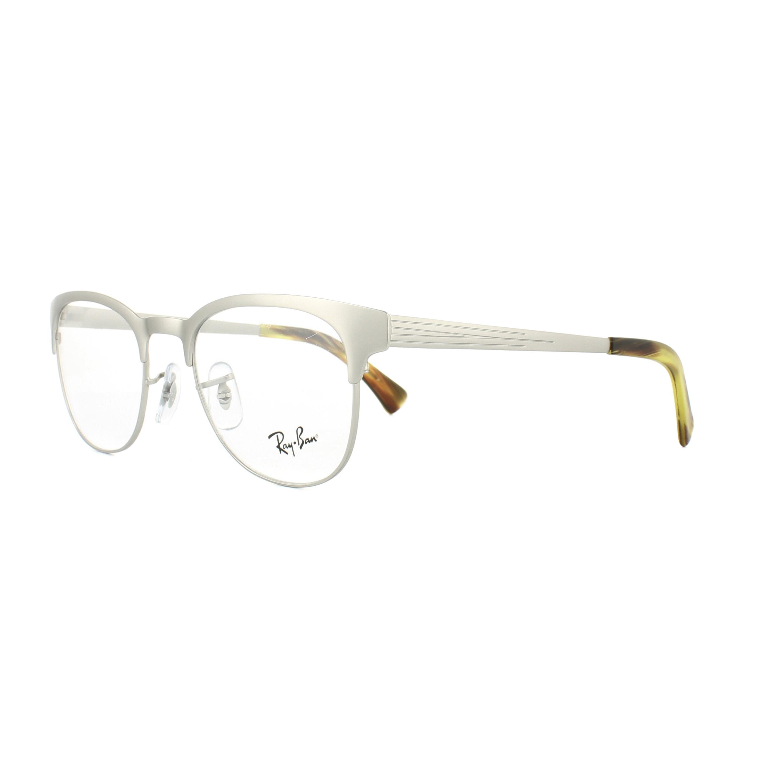 c8fa3bef201 ... matte silver eyeglasses 93a77 8f70b switzerland sentinel ray ban  glasses frames 6317 2835 silver 51mm womens b9137 47291 ...