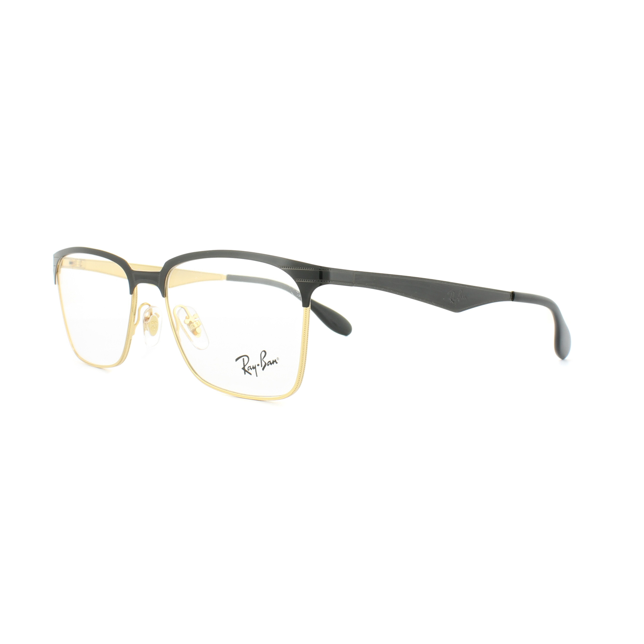 5e14f0f778 Sentinel Ray-Ban Glasses Frames 6344 2890 Gold Shiny Black 54mm Mens