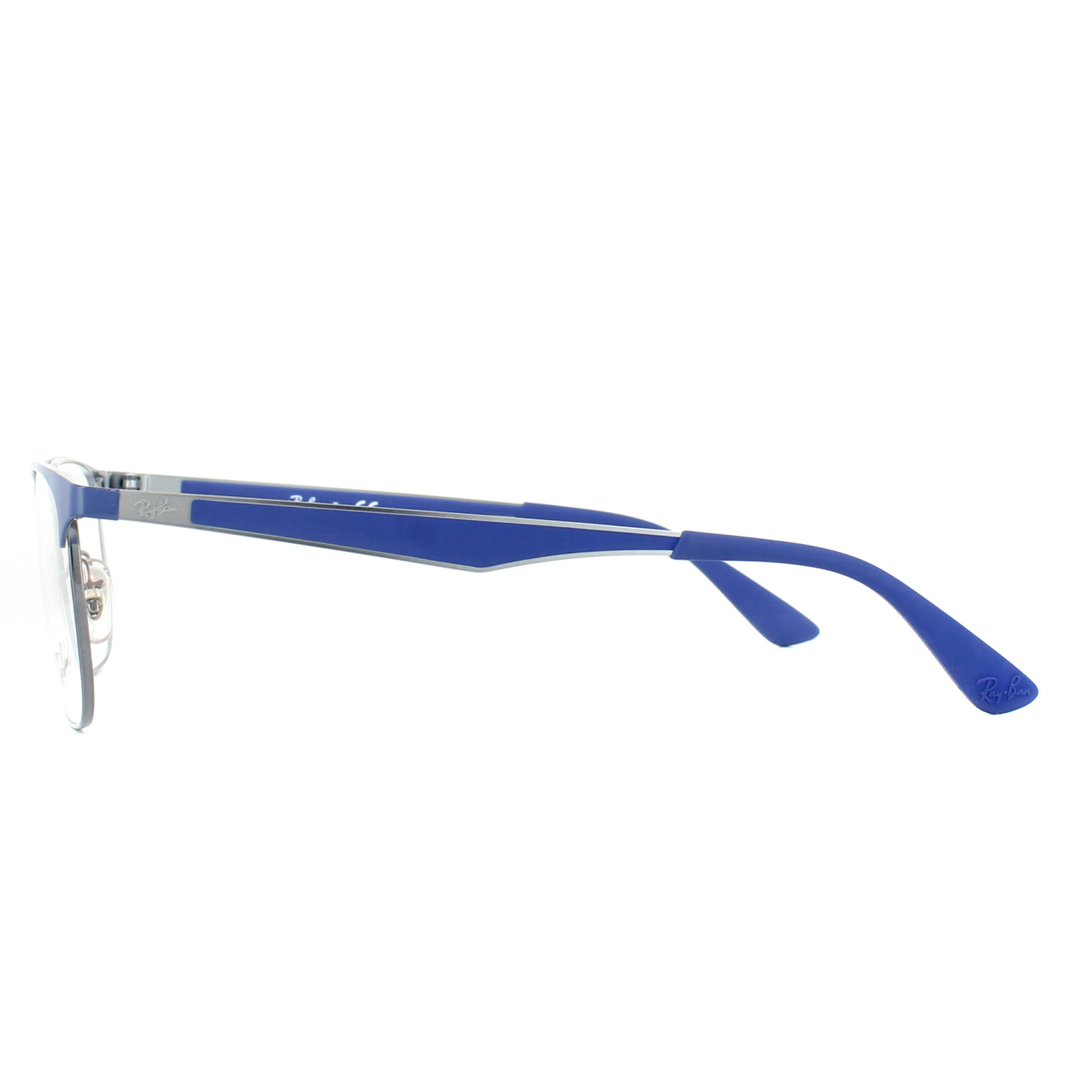 ba2ea794dc Sentinel Ray-Ban Glasses Frames 6363 2889 Blue Gunmetal 52mm Mens Womens