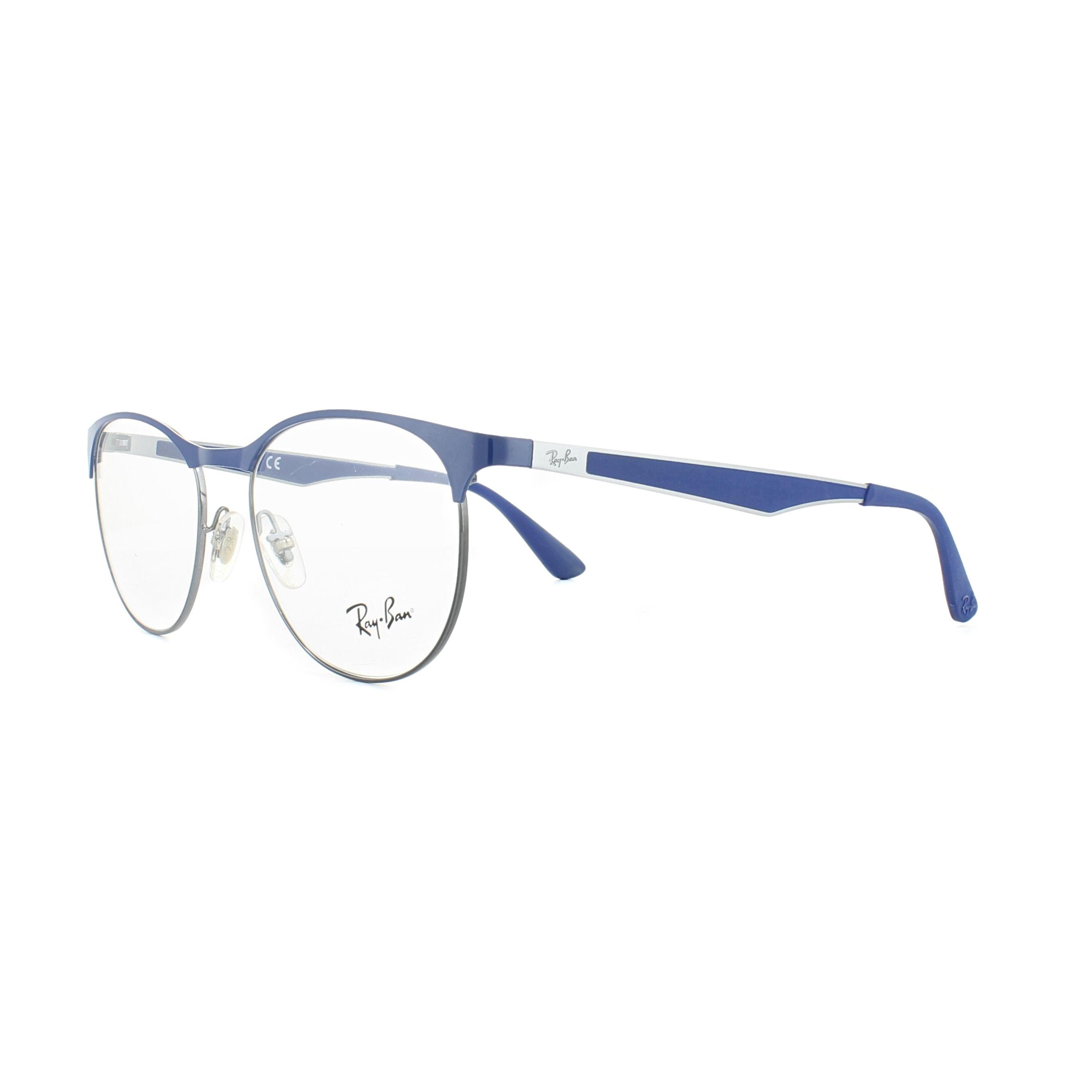 f88436f91d ... australia sentinel ray ban glasses frames 6365 2889 gunmetal electric blue  51mm womens d34a4 cc02e ...