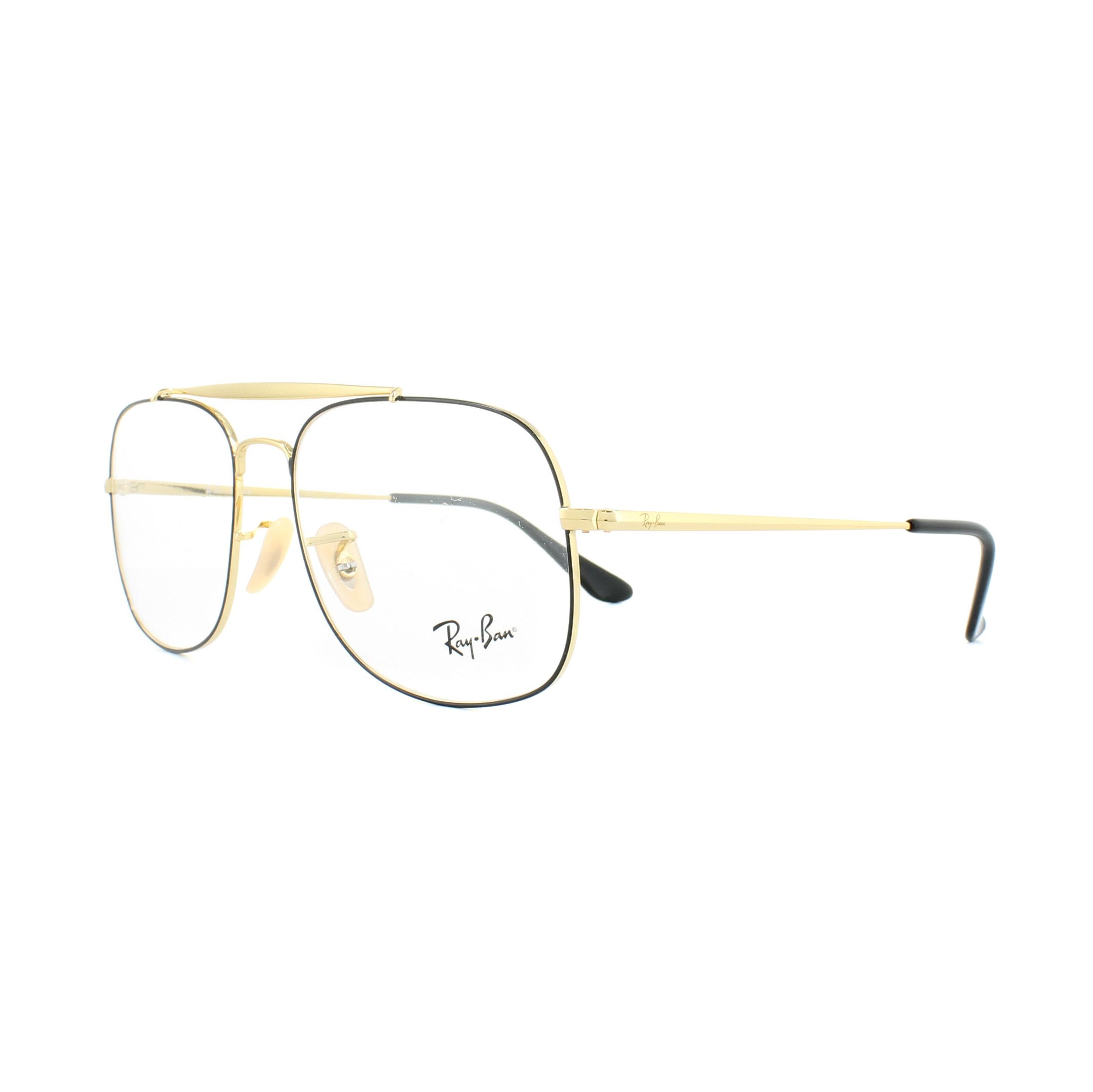 Ray-Ban Glasses Frames 6389 The General 2946 Black Gold 55mm Mens ...