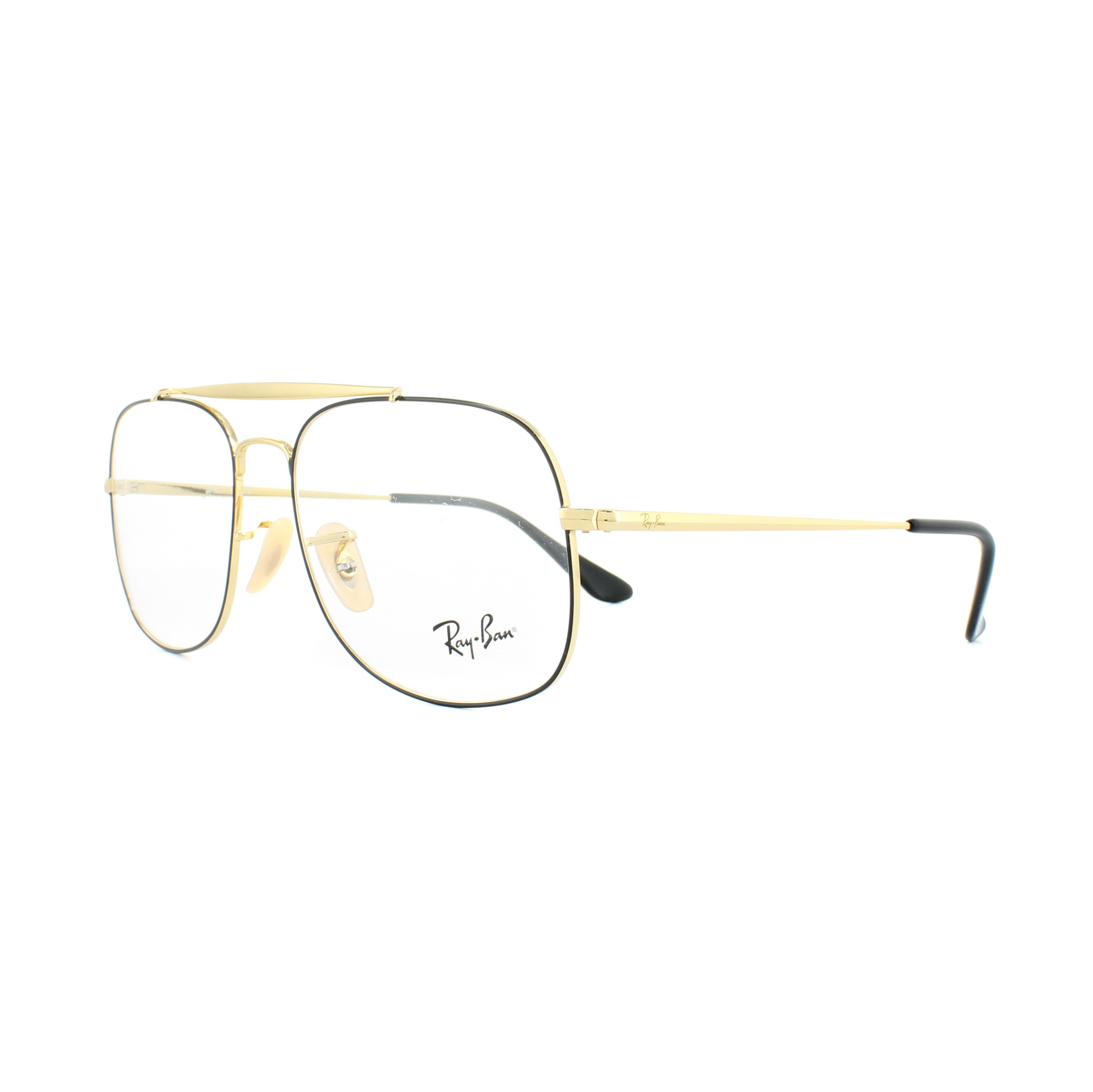f85a4f3a34 Sentinel Ray-Ban Glasses Frames 6389 The General 2946 Black Gold 57mm Mens