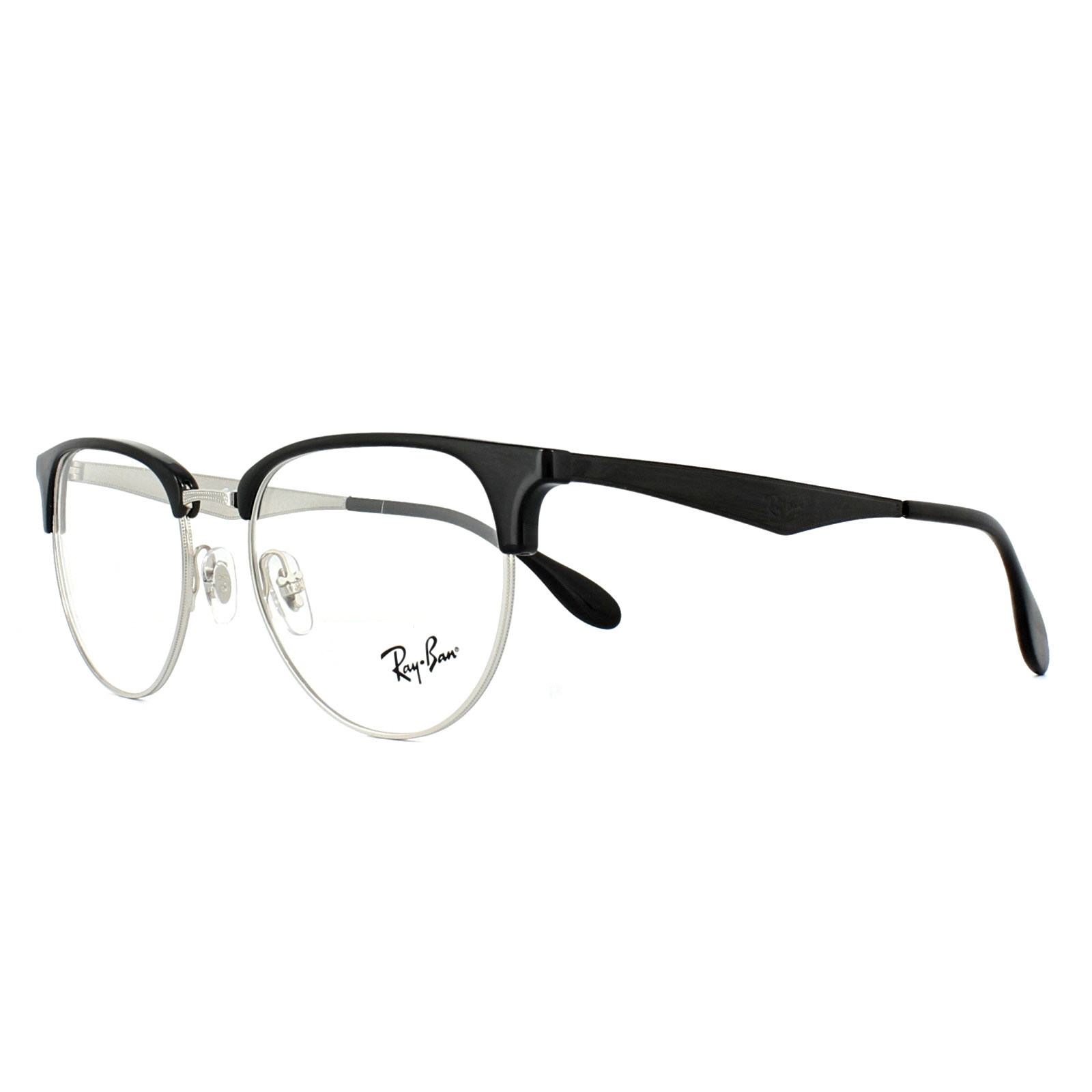 55a04d2d84 Sentinel Ray-Ban Glasses Frames 6396 2932 Silver Black 53mm Mens
