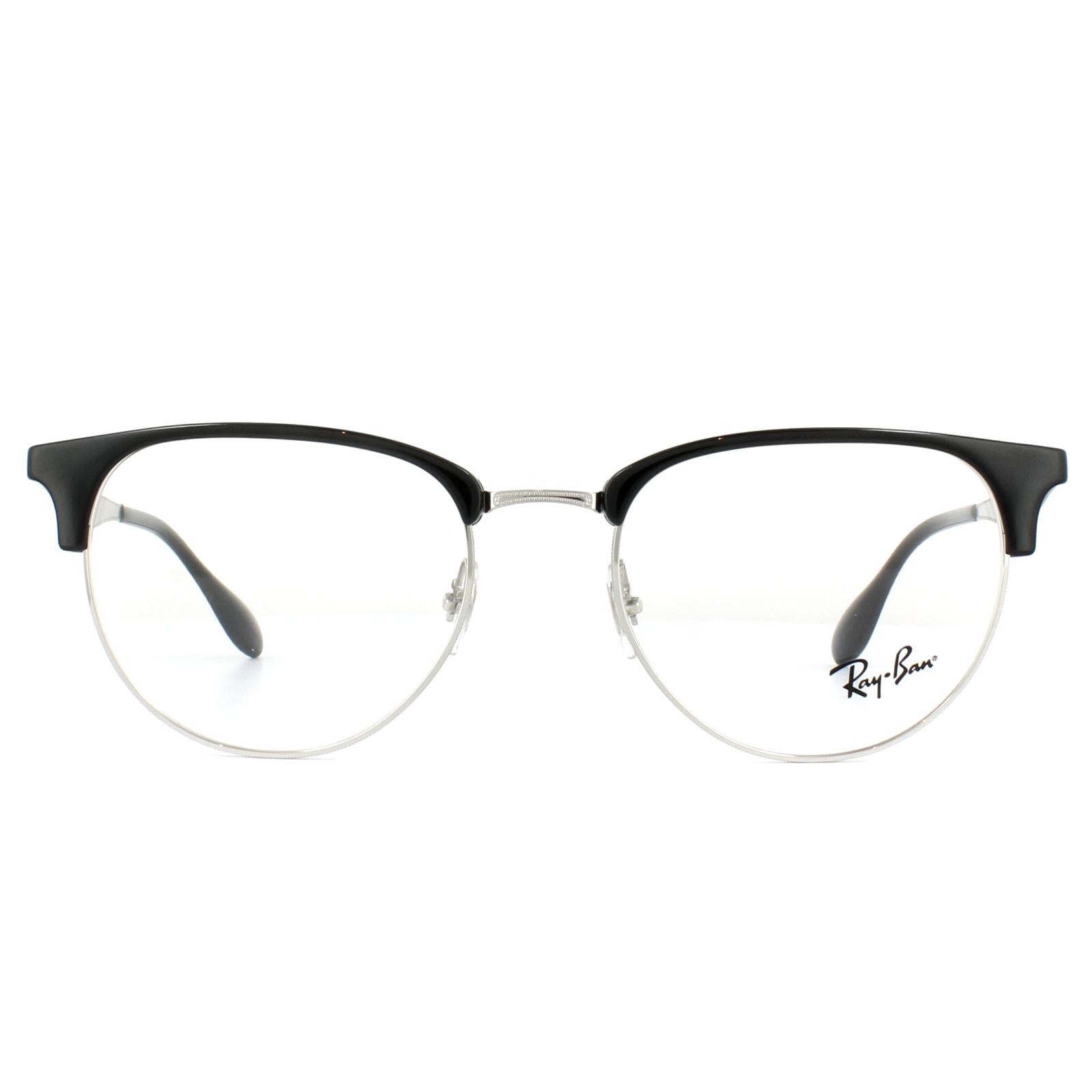 d8a50444471 Sentinel Ray-Ban Glasses Frames 6396 2932 Silver Black 53mm Mens